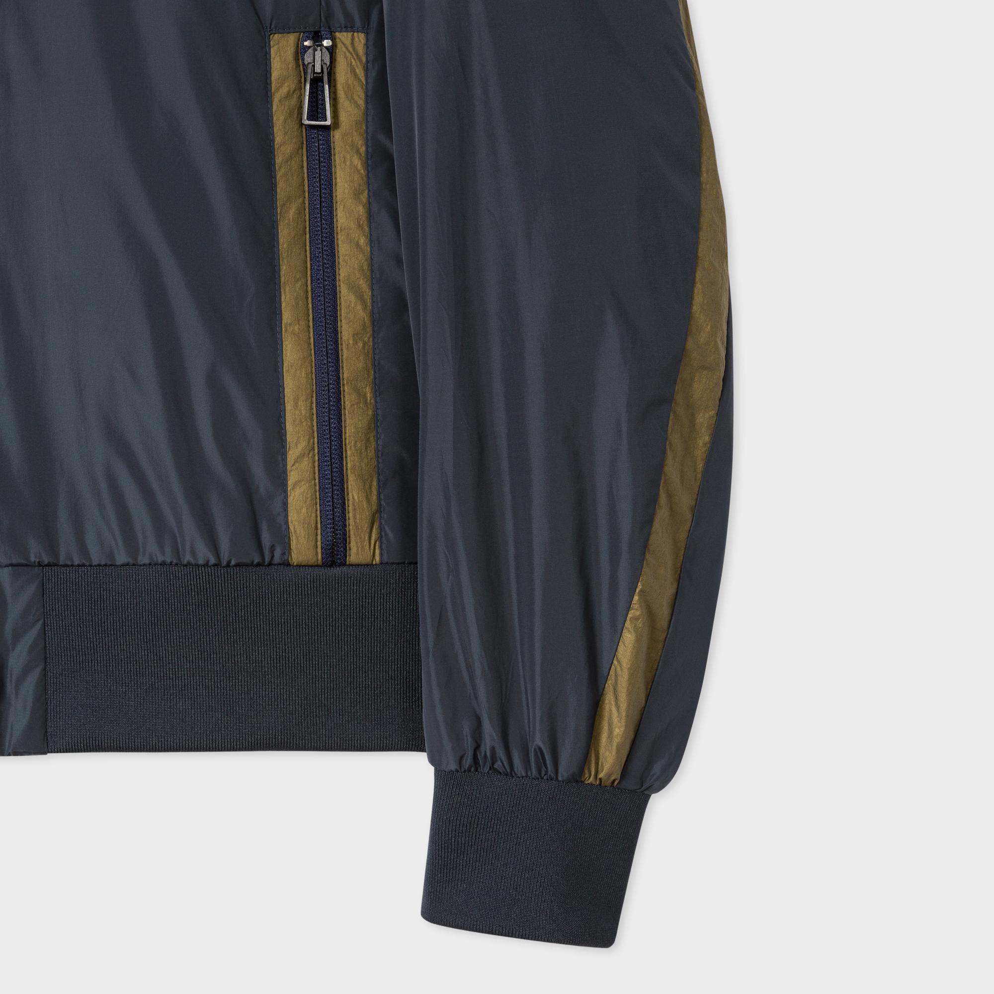 Paul Smith Rubber Men's Navy Lightweight Showerproof Bomber Jacket in Blue for Men