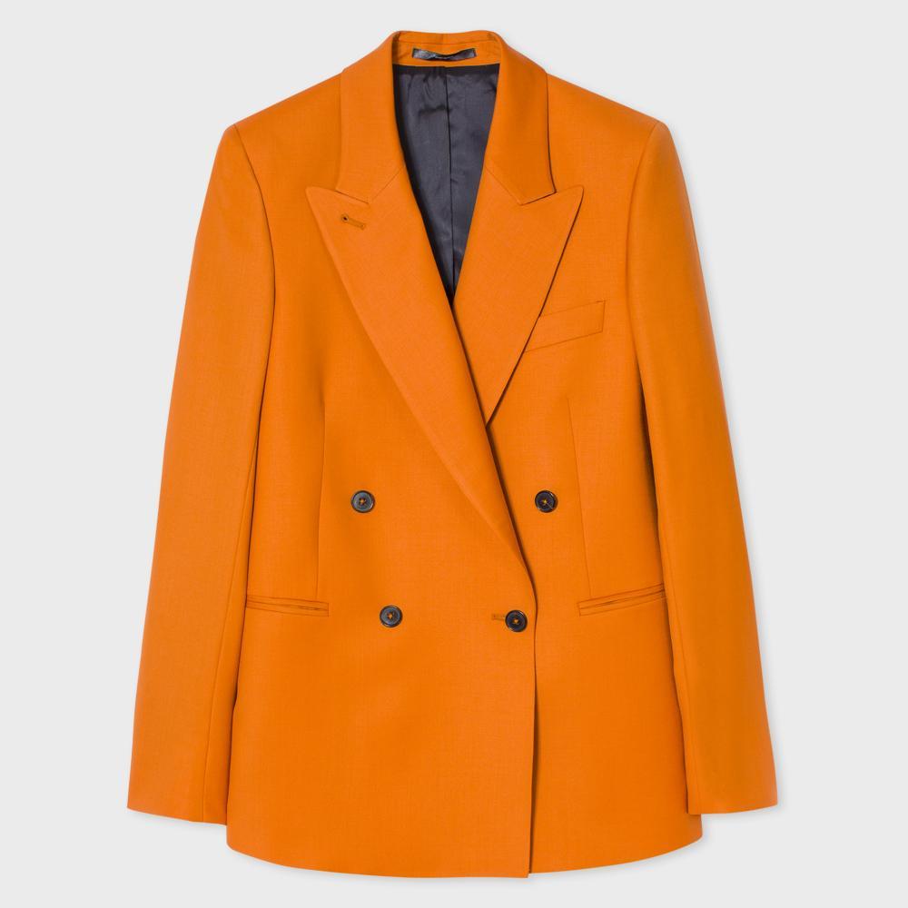 Paul smith Women's Burnt Orange Wool Double-breasted ...