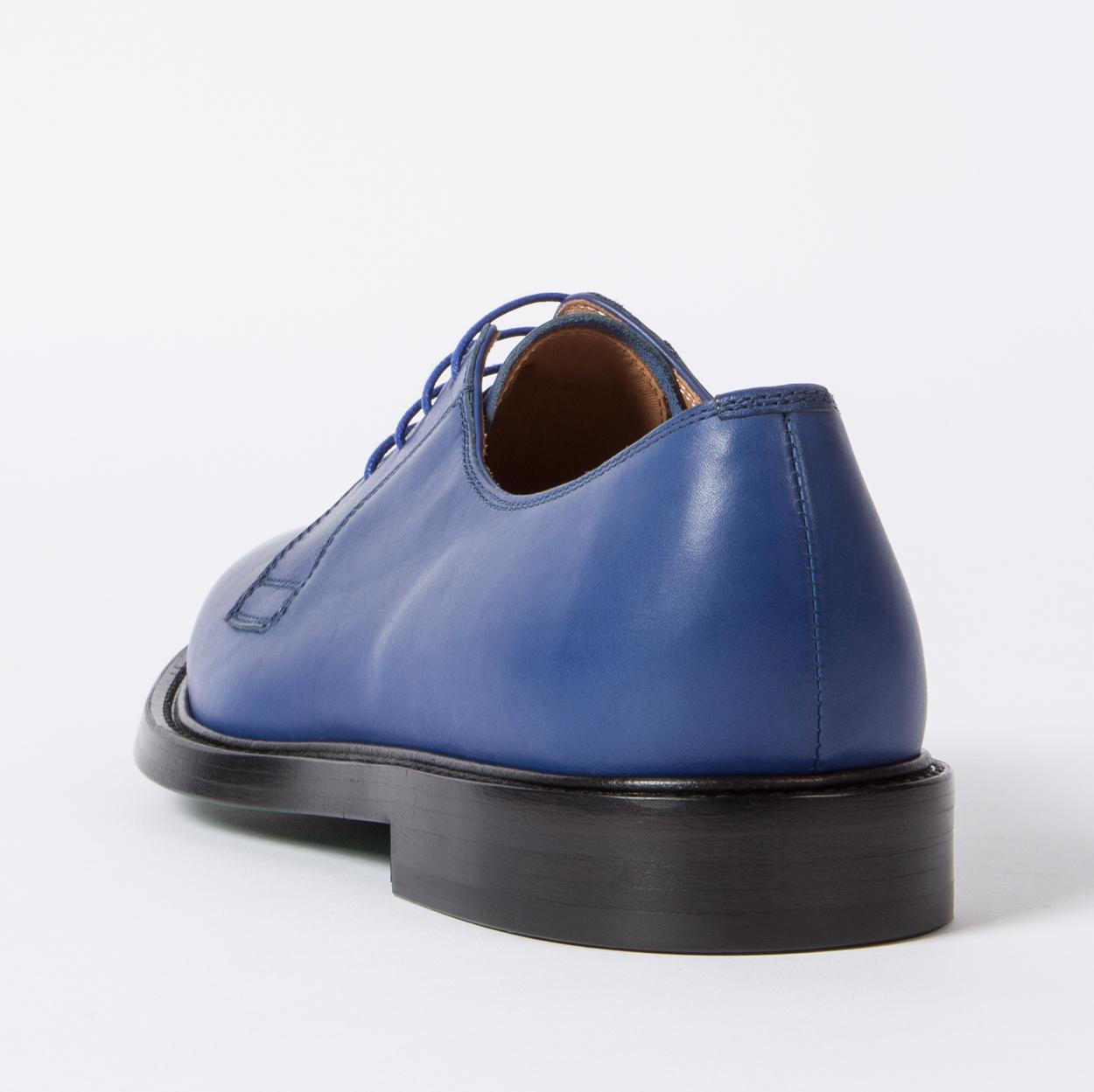 Paul Smith Boyd Leather Derby Shoes in Blue for Men