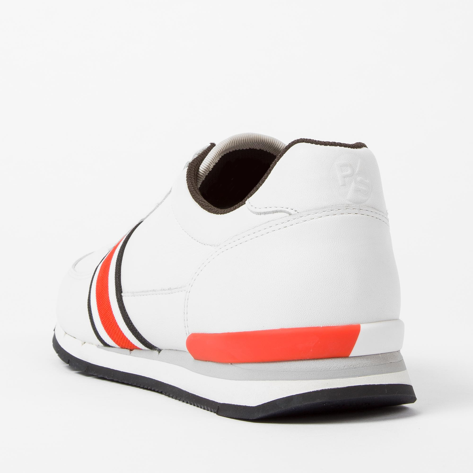 Paul Smith Men's White Leather 'swanson' Trainers for Men
