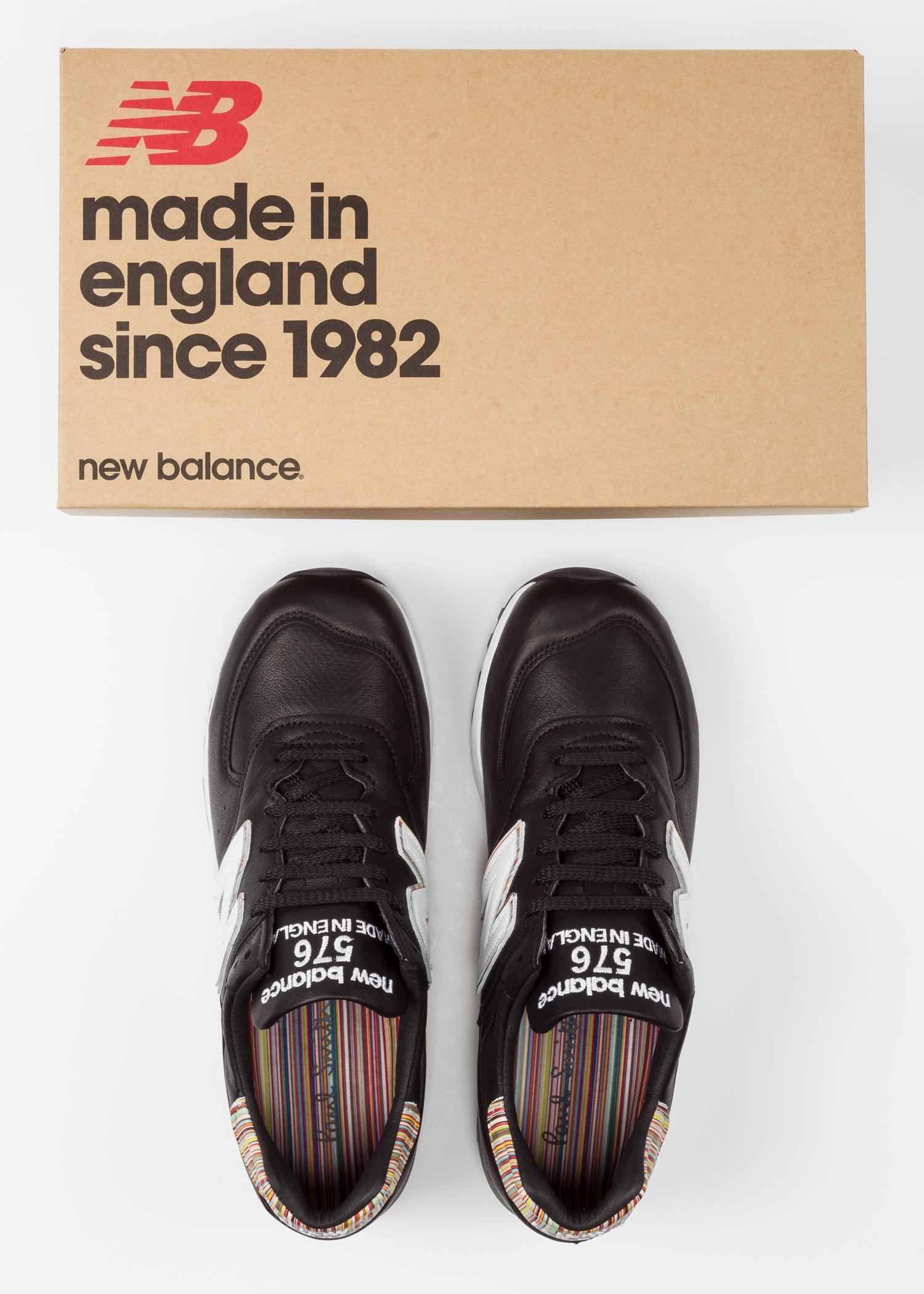 83e2d7b24 Paul Smith New Balance - Black Leather 576 Trainers in Black for Men ...