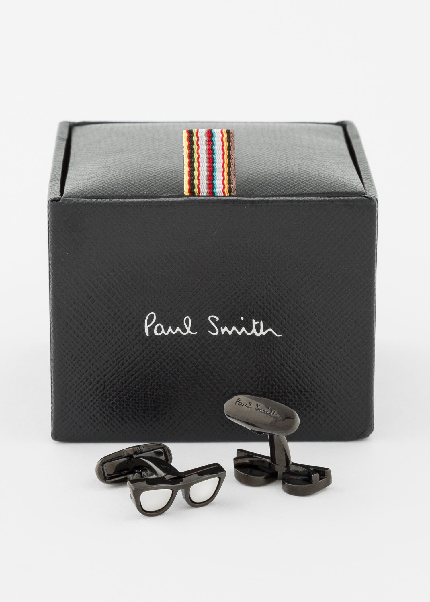 Paul Smith Black Sunglasses Cufflinks for Men