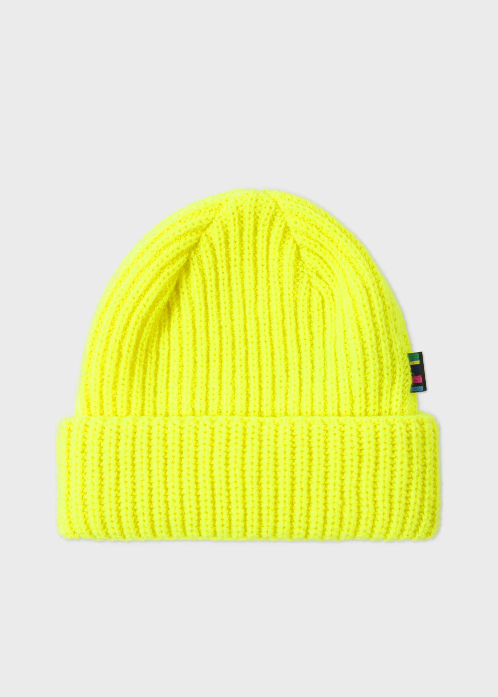 Paul Smith Men s Neon Yellow Wool Beanie Hat in Yellow for Men - Lyst a640ce83909b