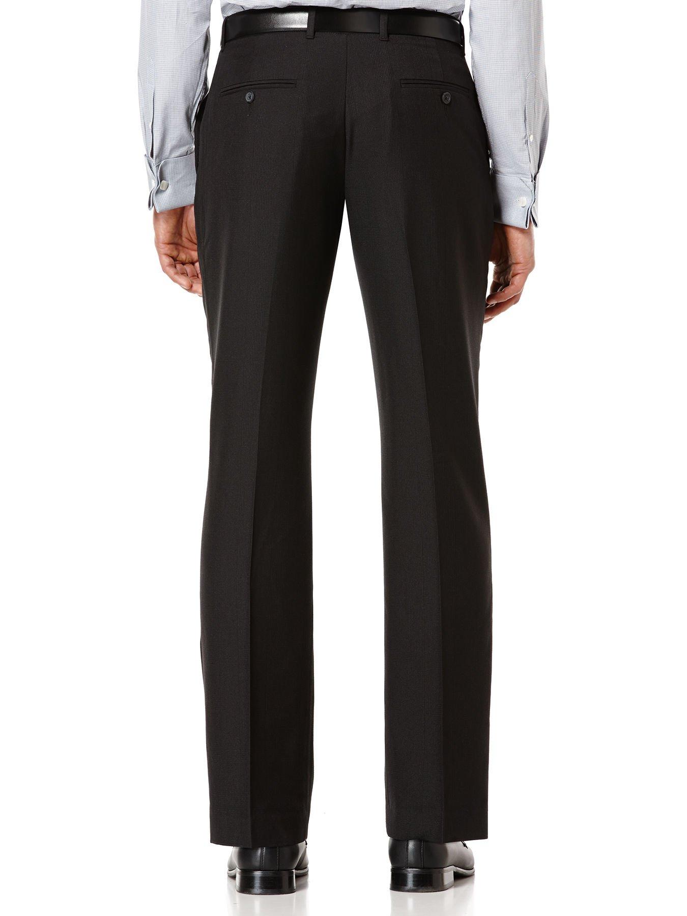 Perry Ellis Travel Luxe Slimfit Dress Pants In Black For
