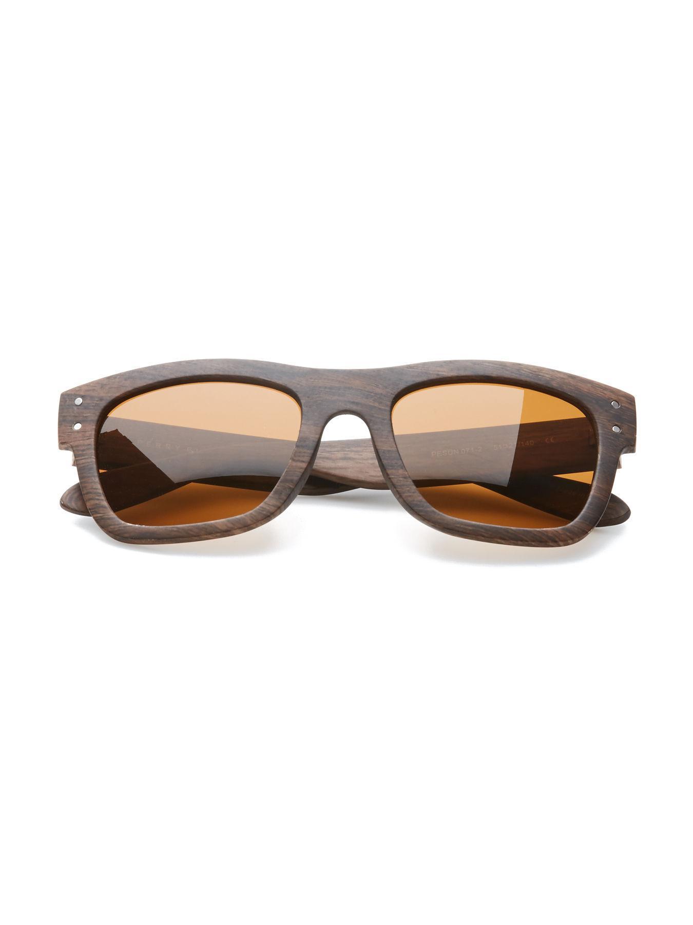 Lyst - Perry Ellis Wood Stripe Sunglasses in Brown for Men