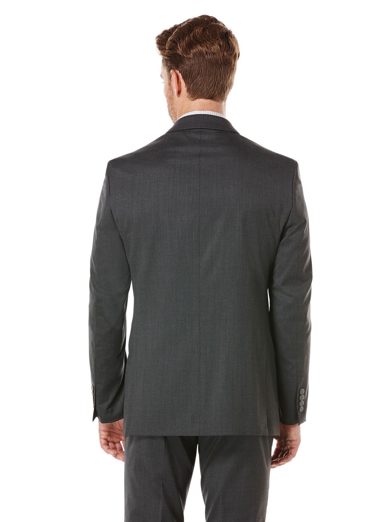 73d8170746 Perry Ellis - Black Charcoal Solid Suit Jacket for Men - Lyst. View  fullscreen