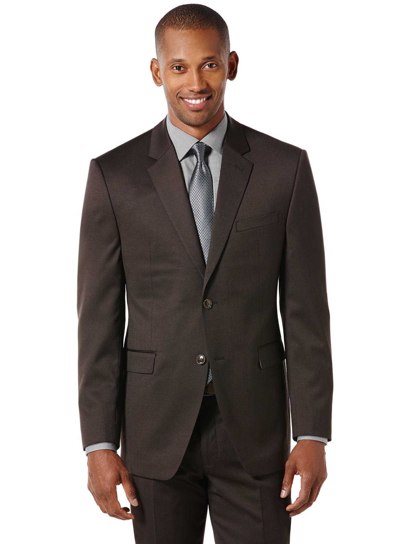 Perry Ellis Brown Tic Weave Suit Jacket In Brown For Men