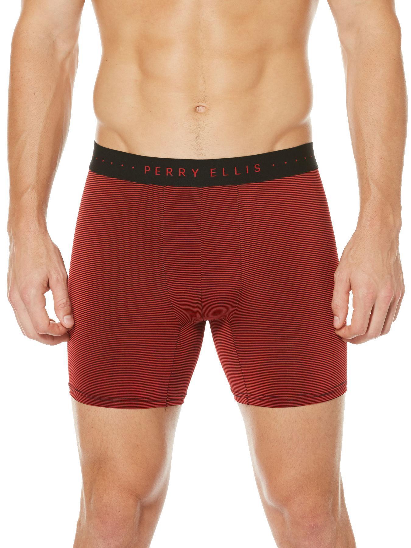 00b0962993c7fc Perry Ellis Mens Microfiber Luxe Paisley Boxer Short Boxer Shorts Clothing  & Accessories Underwear