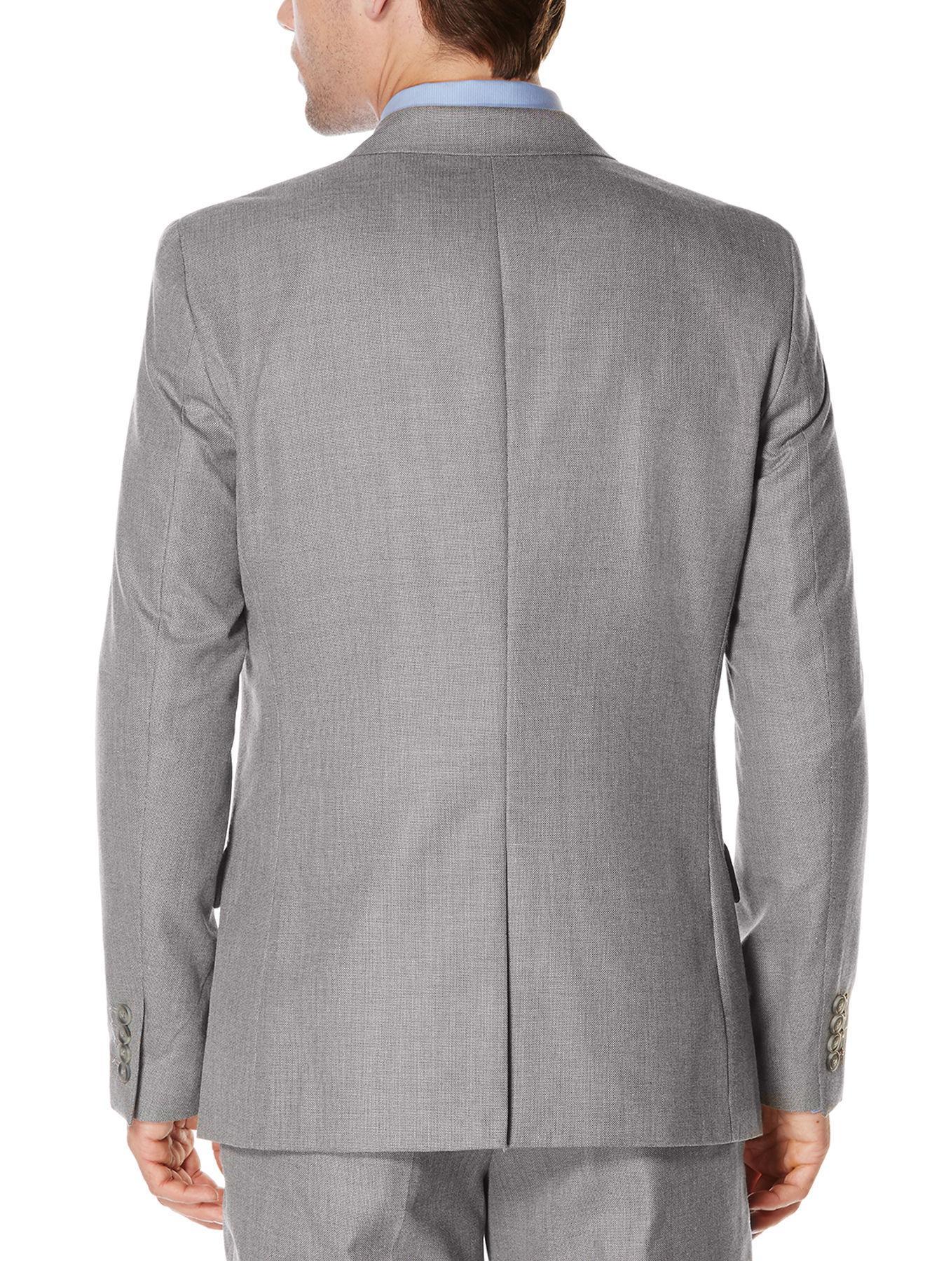 62ac028160 Perry Ellis - Gray Slim Fit Twill Grey Suit Jacket for Men - Lyst. View  fullscreen