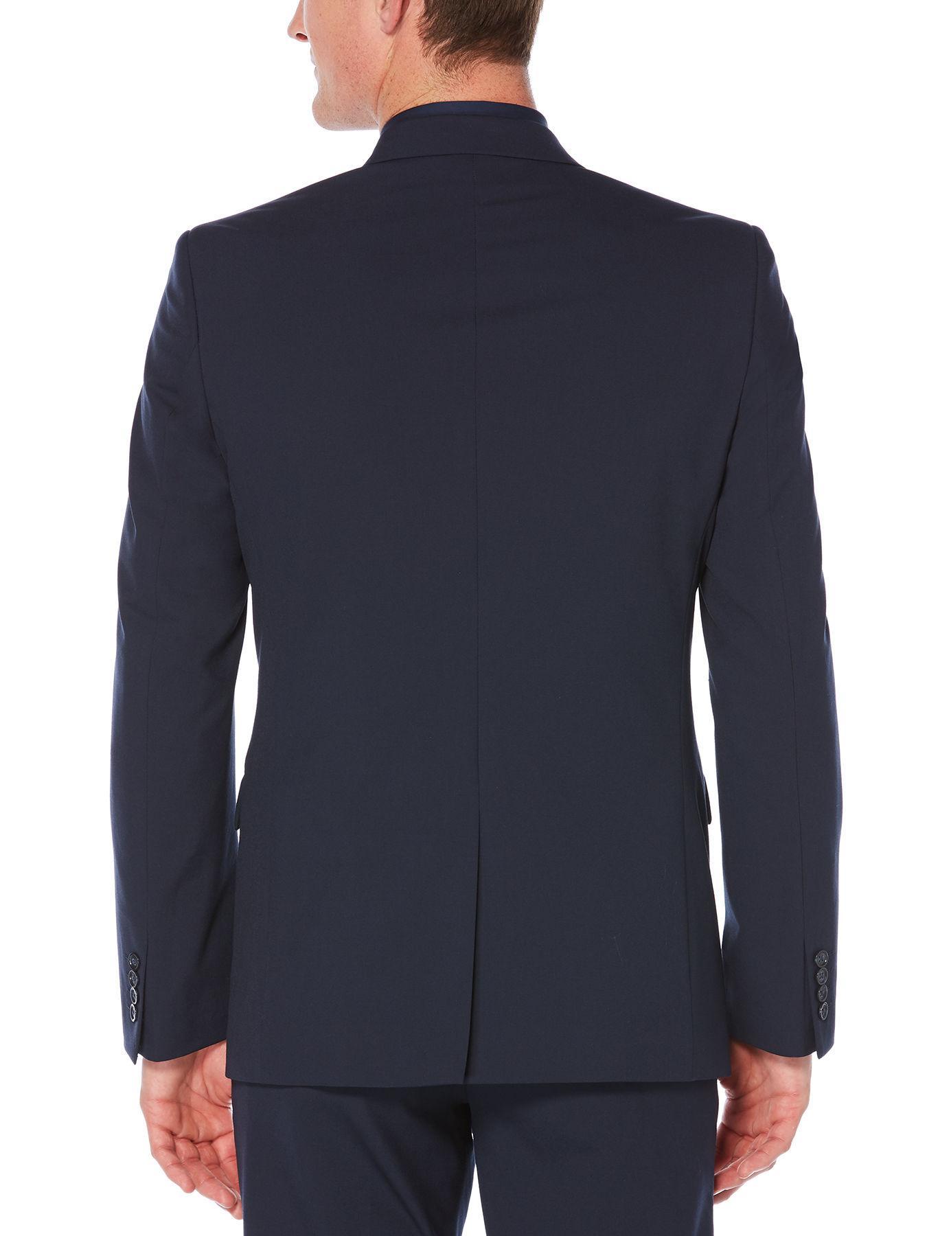 b4255e9dac Perry Ellis - Blue Slim Fit Tech Washable Suit Jacket for Men - Lyst. View  fullscreen