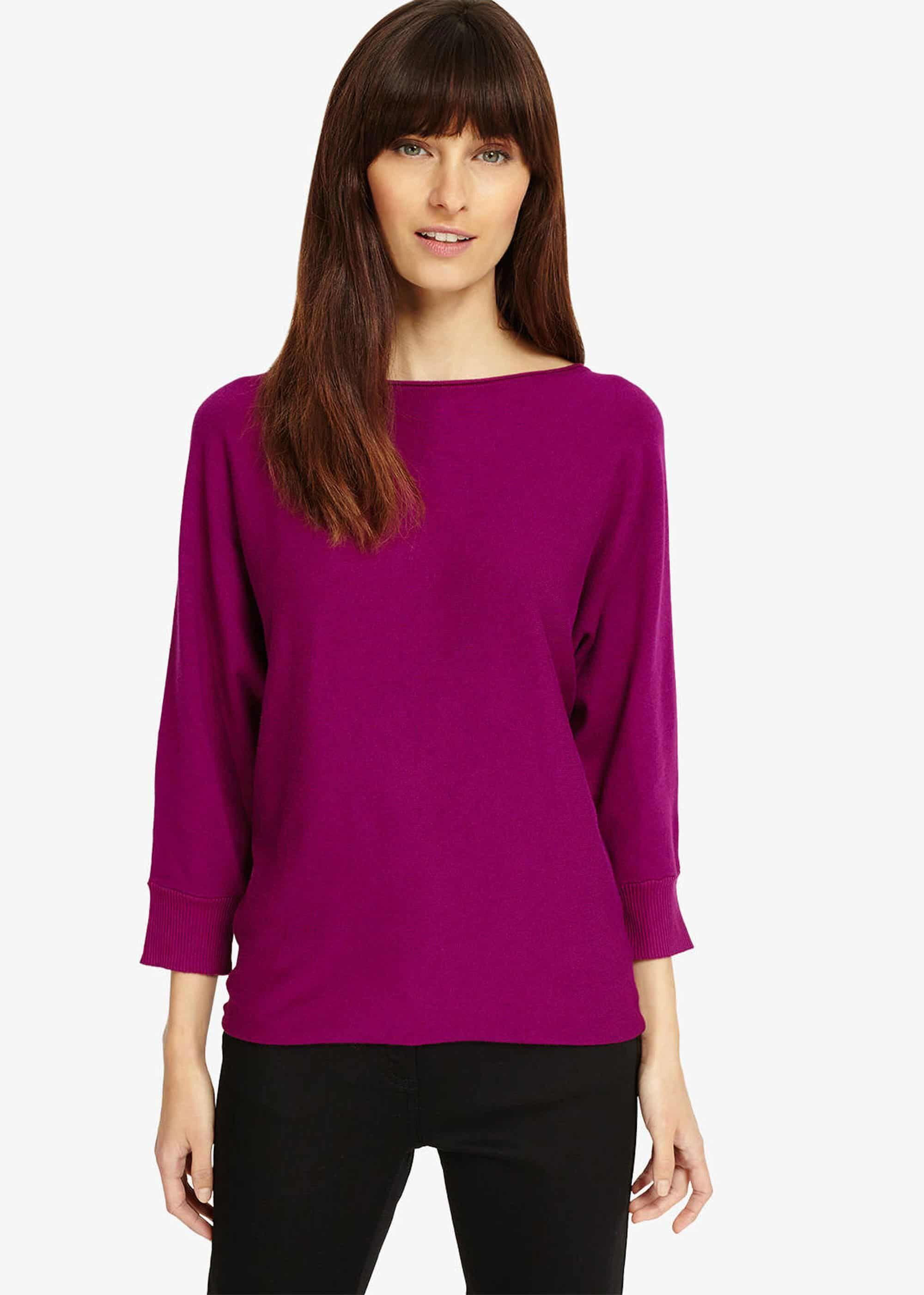 b6ac77b1606 Women's Purple Becca Smart Batwing Knitted Jumper