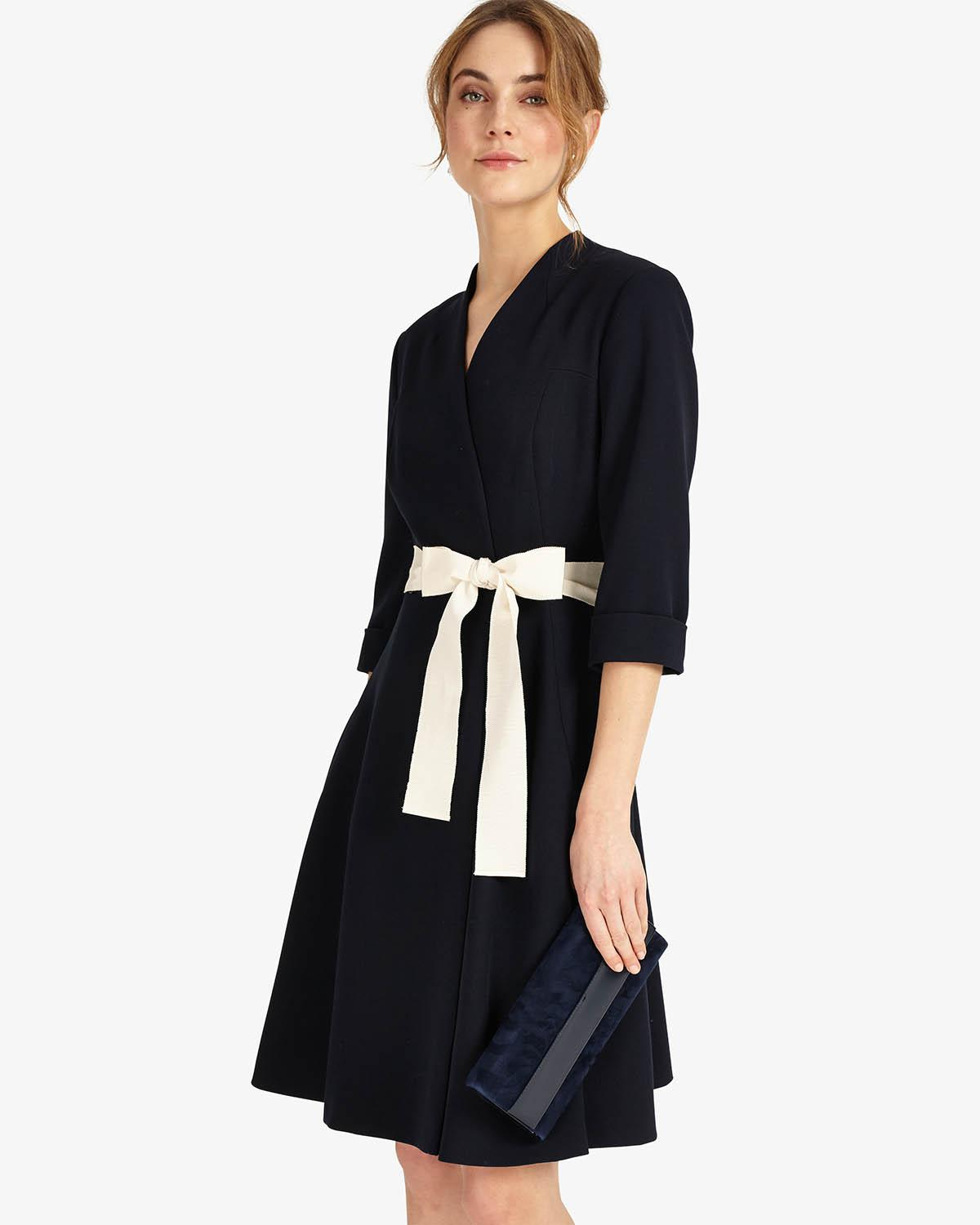 Phase Eight Synthetic Perdita Wrap Dress In Navy Blue Lyst