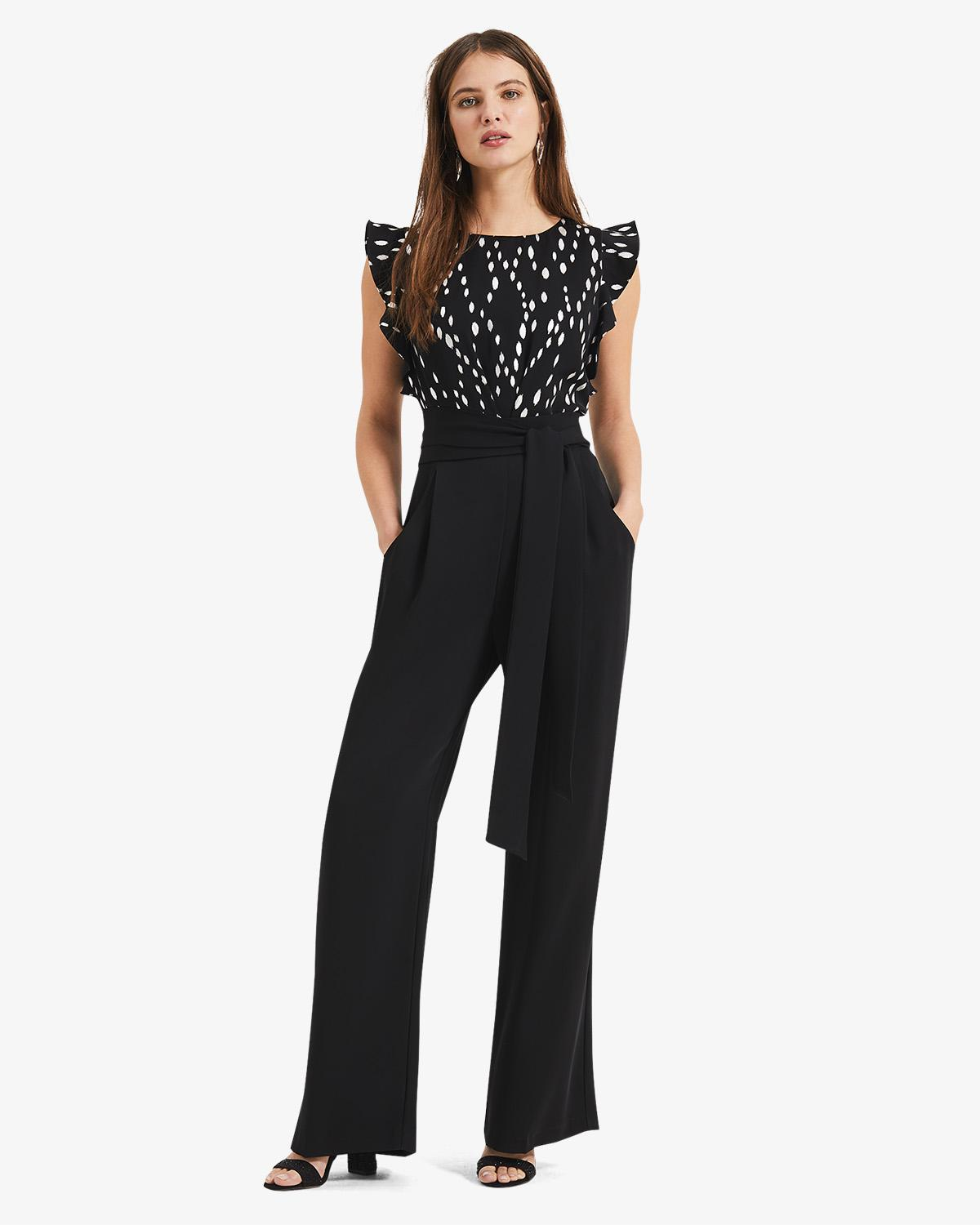 5f8ce90263 Phase Eight - Black Victoriana Foil Print Jumpsuit - Lyst. View fullscreen