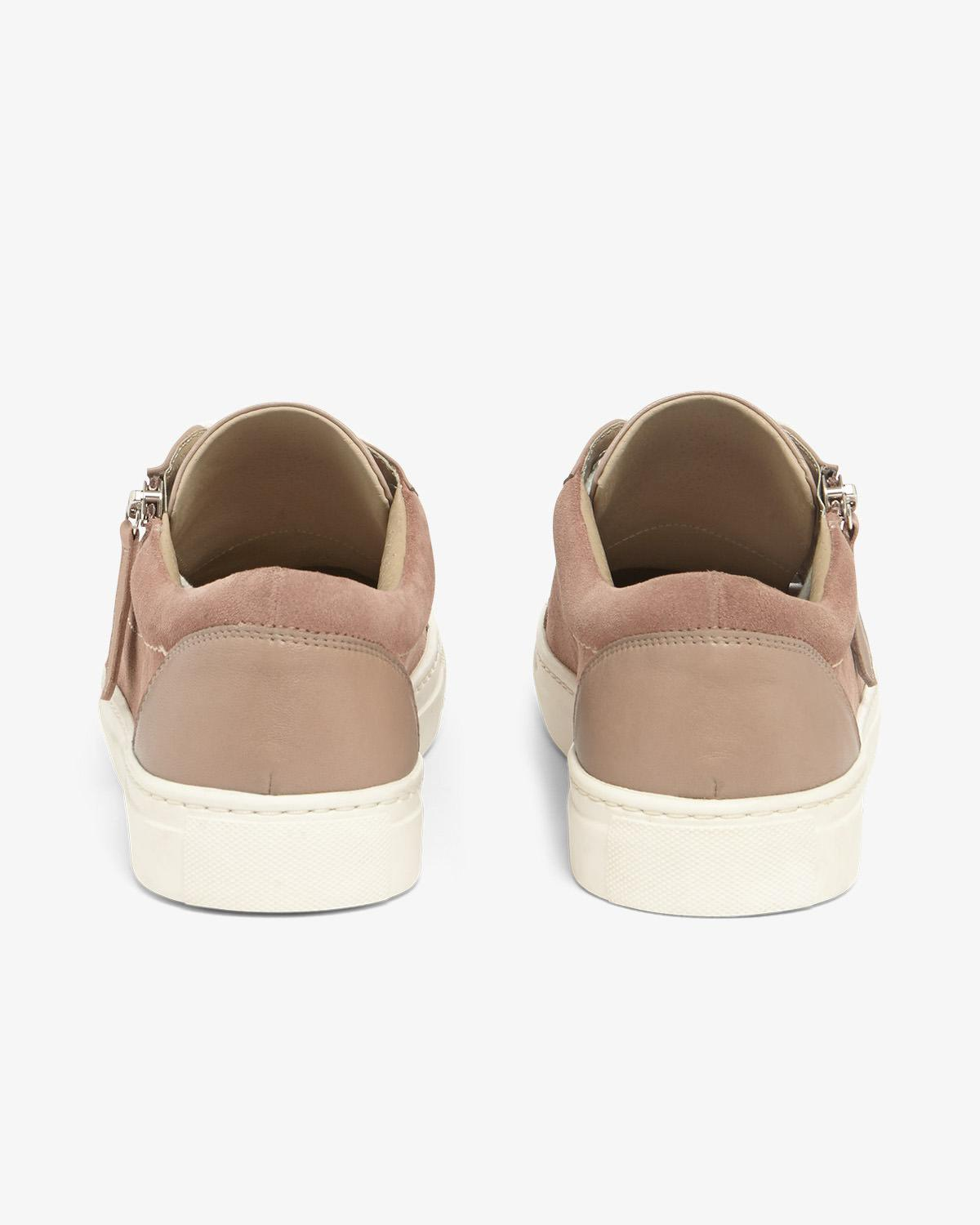 a544fae053 Lyst - Phase Eight Skyla Leather Side Zip Trainers in Pink