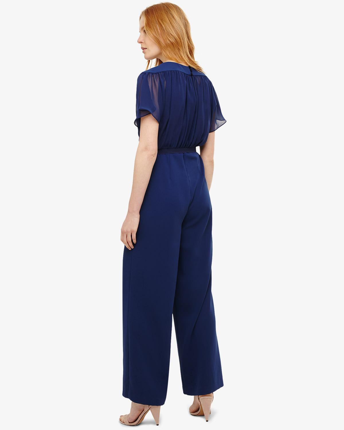 7e5bda905ac4 Phase Eight Alba Belted Jumpsuit in Blue - Lyst