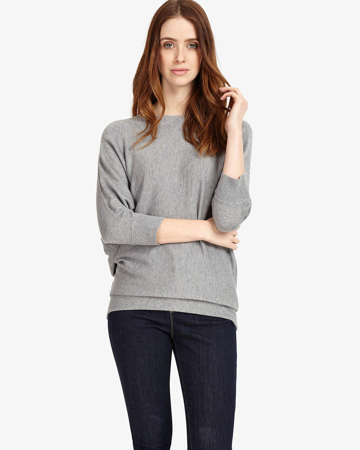 35a9a8a4a38 Phase Eight Becca Batwing Jumper in Gray - Lyst