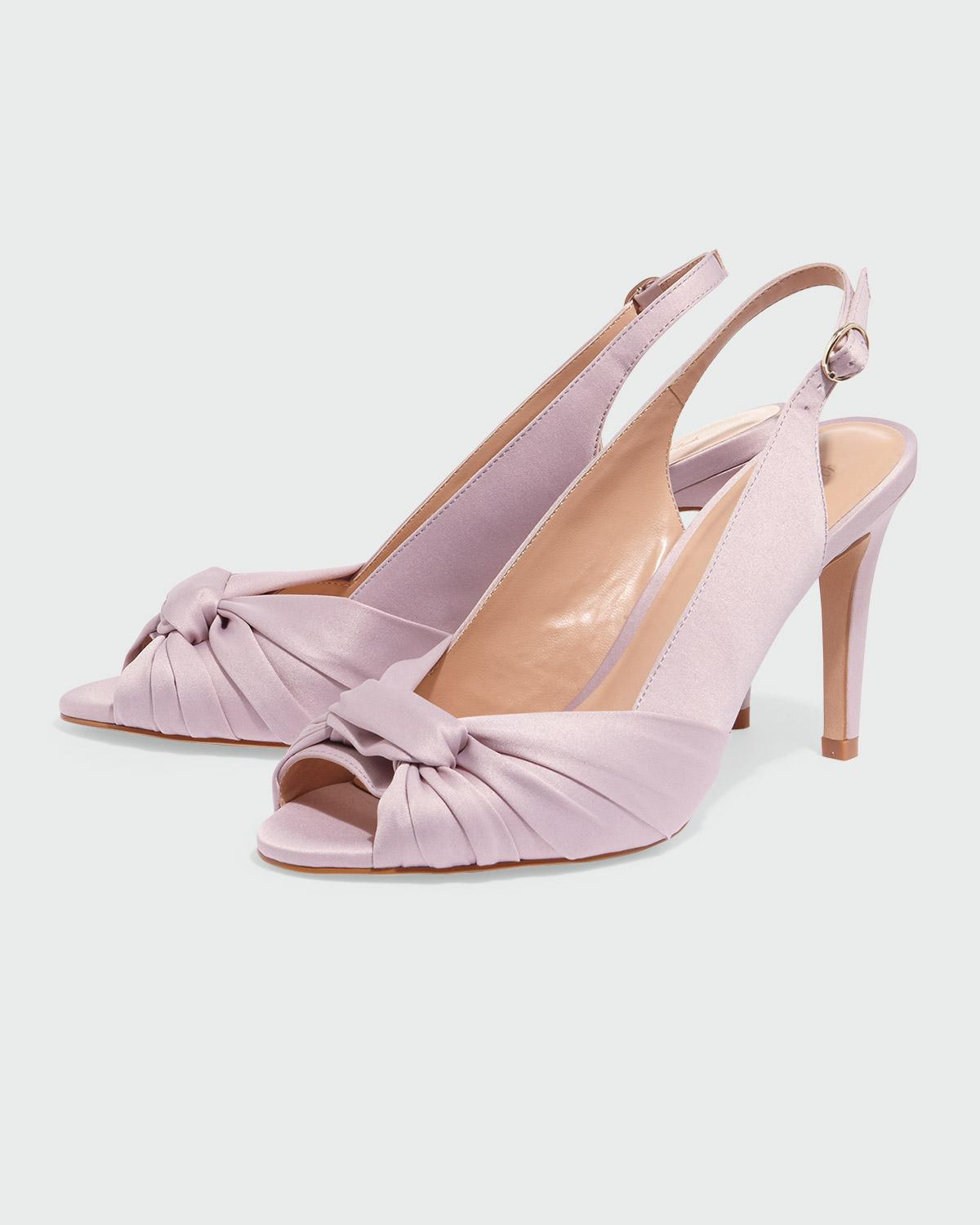 76c83f85fa9 Phase Eight Rhia Knot Front Slingback Peeptoe Shoe in Pink - Lyst