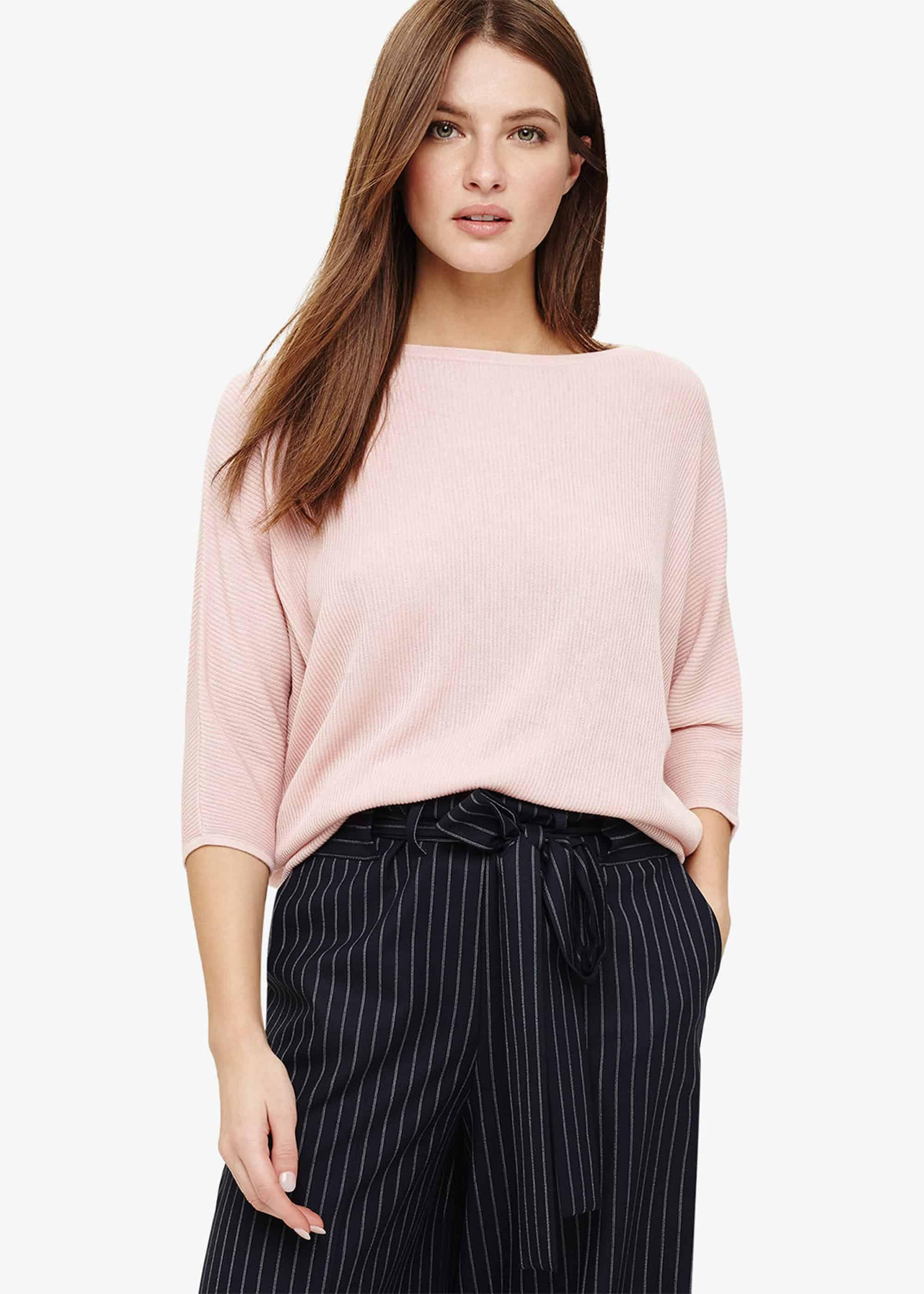 127bcdd9753 Women's Pink Becca Rib Stitch Knitted Top