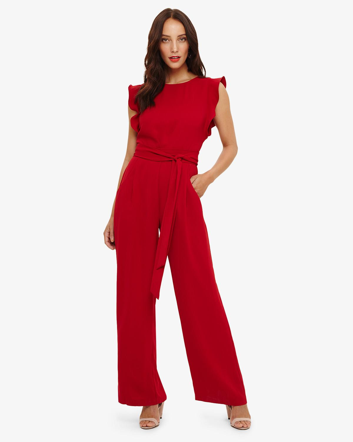 40eacea824b2 Phase Eight Red Victoriana Jumpsuit in Red - Lyst