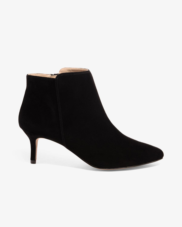 5c7edb3a43a Lyst - Phase Eight Tasmin Pointed Kitten Heel Boots in Black