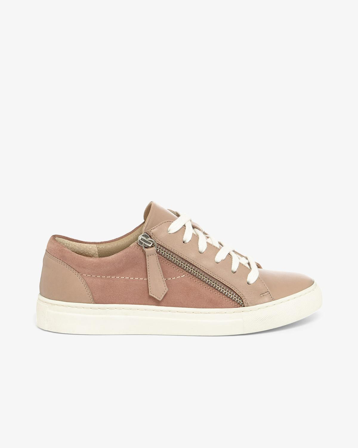 eb19463dfe Phase Eight Skyla Leather Side Zip Trainers in Pink - Lyst