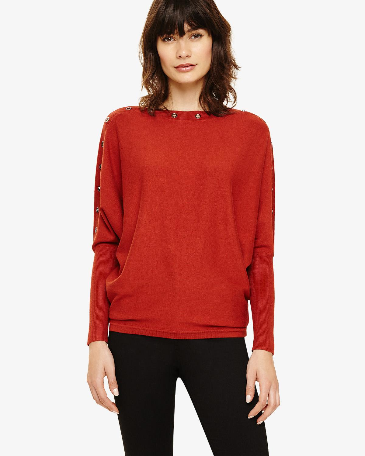 d186f371d7c Phase Eight Esther Batwing Knitted Jumper in Red - Lyst