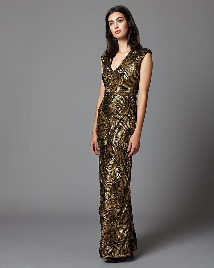 Lyst - Phase Eight Alexi Sequin Full Length Dress