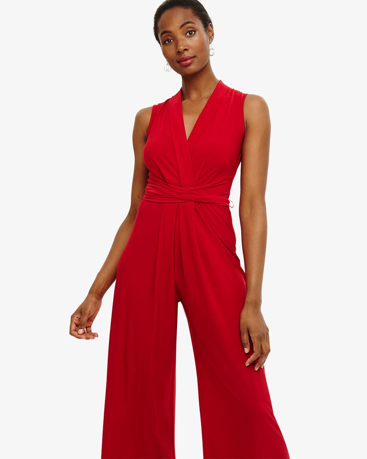 68d291ea63b Phase Eight - Red Tia Sleeveless Jumpsuit - Lyst. View fullscreen