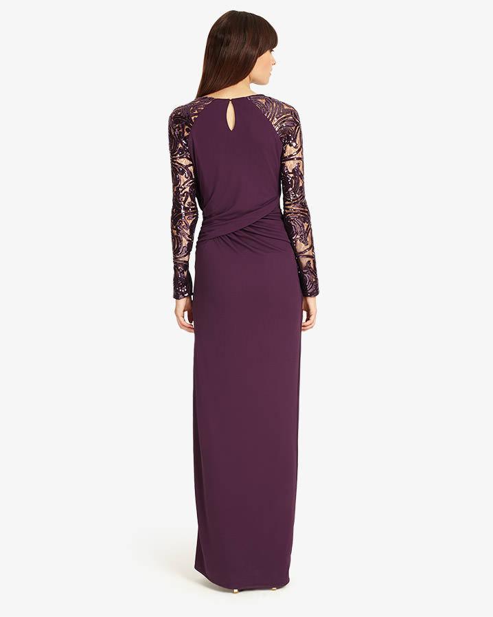 Lyst - Phase Eight Akira Maxi Dress in Purple