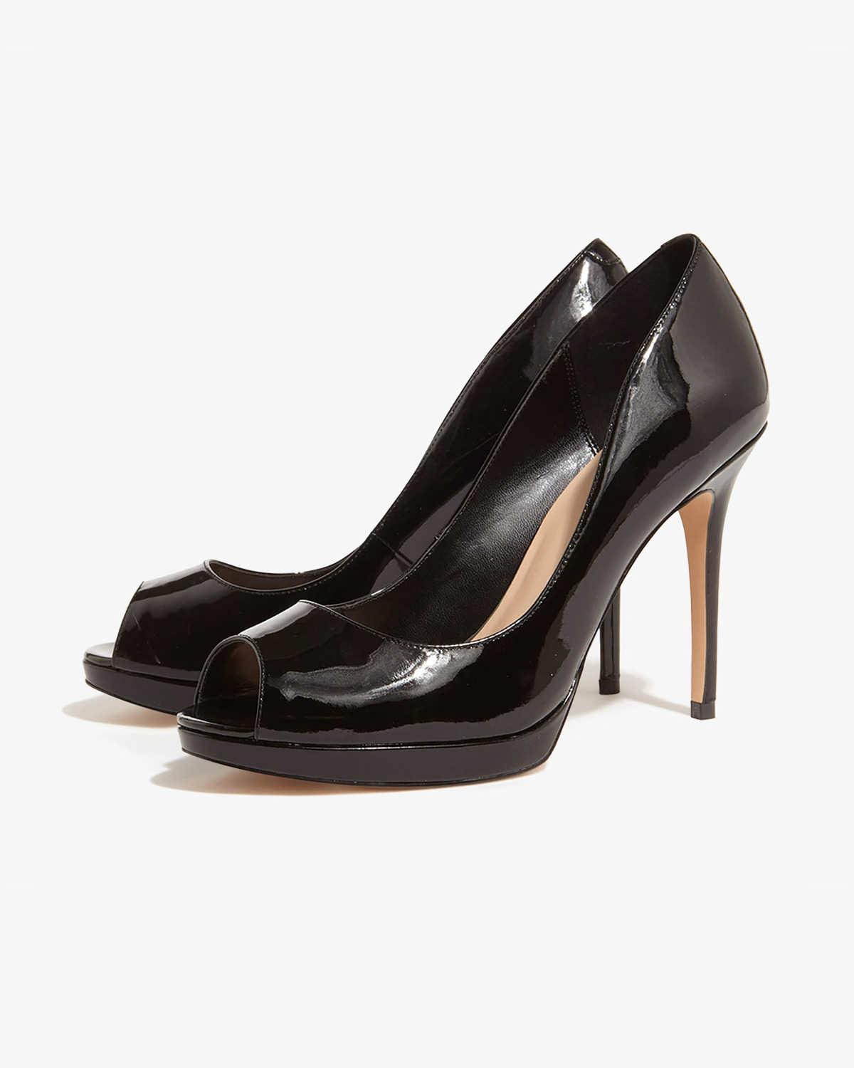 2ab6b2a175f Lyst - Phase Eight Poppy Patent Leather High Heel Shoes in Black