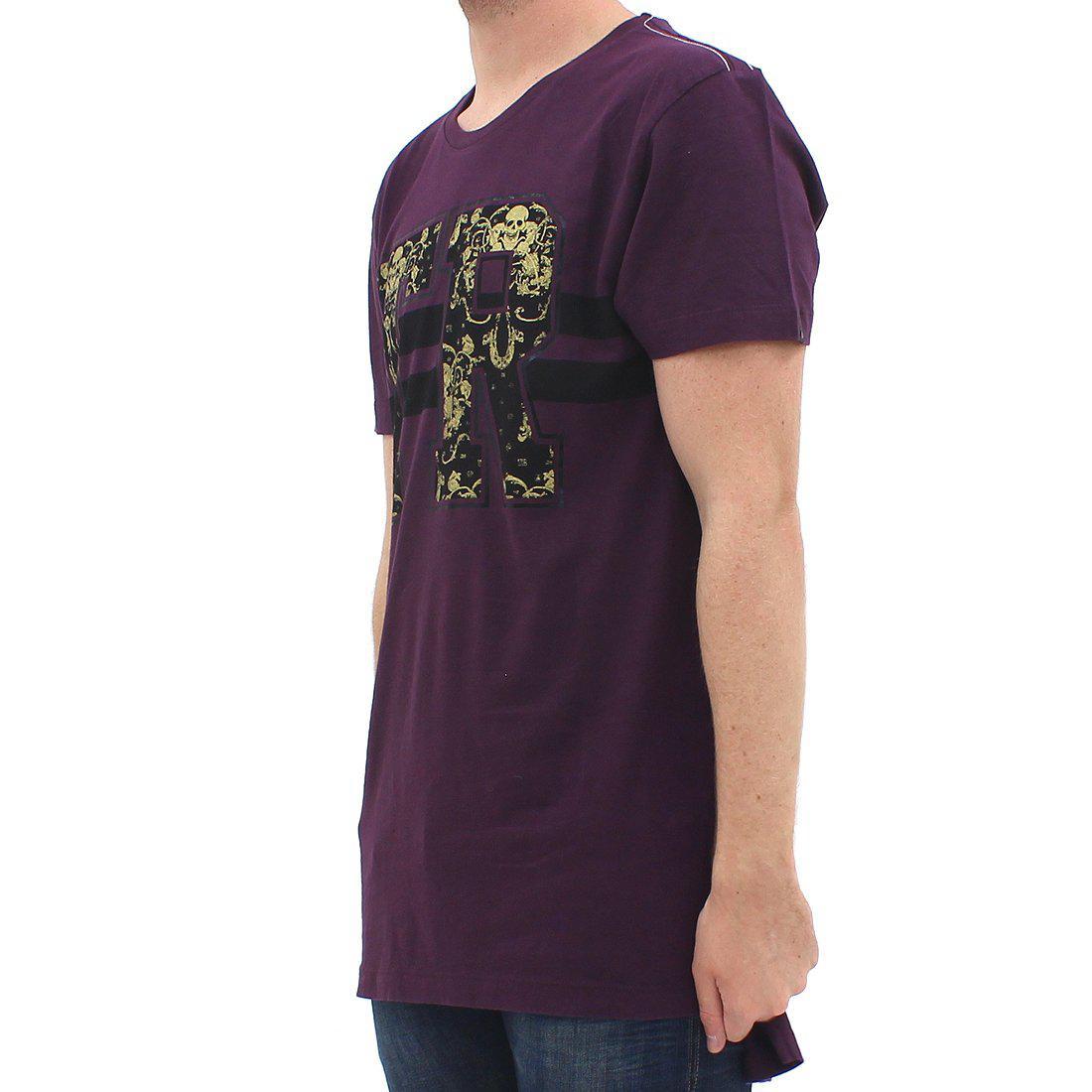 a41a3618 True Religion Tr Brocade Tee Burgundy in Purple for Men - Lyst