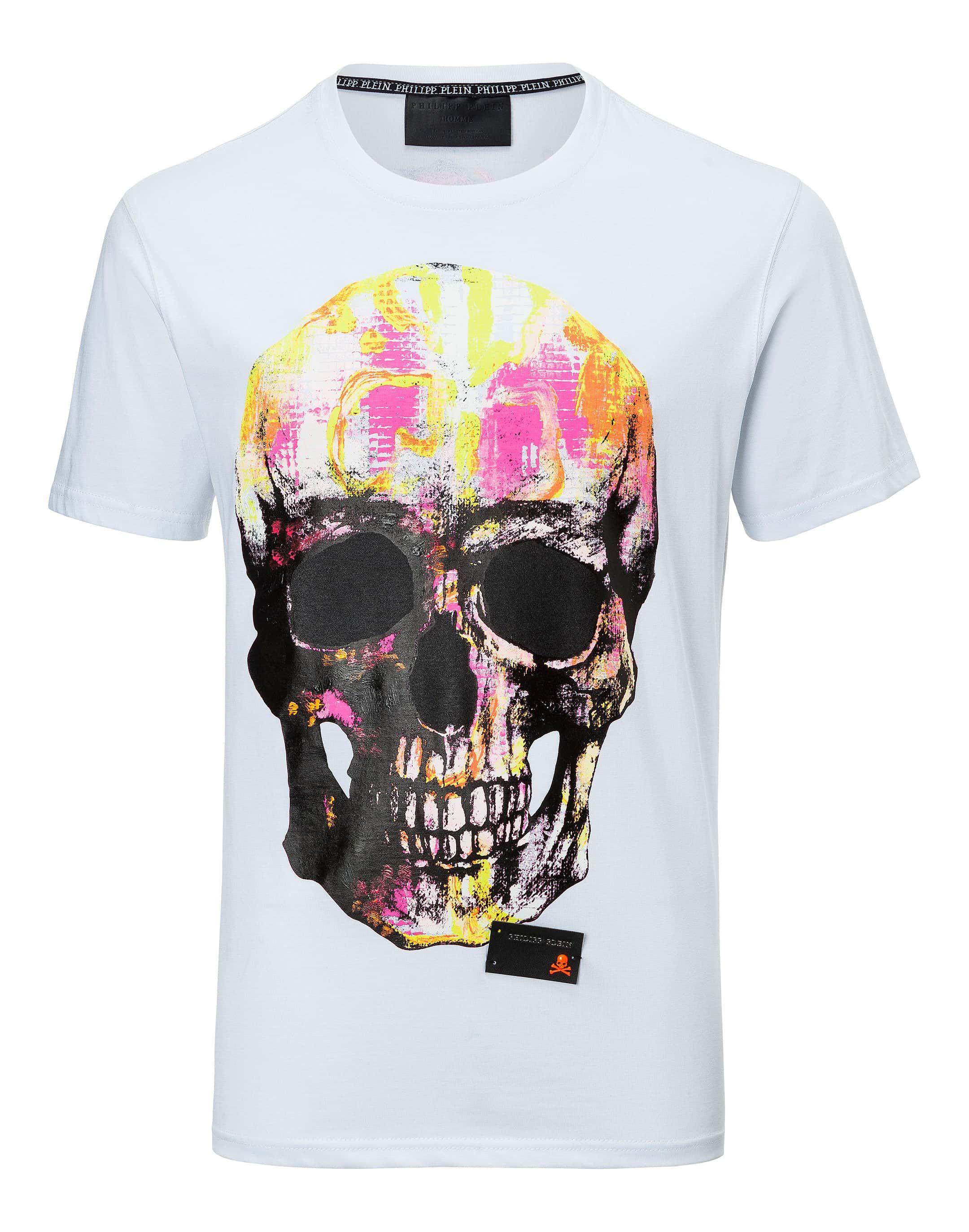 7681c12f5574de Lyst - Philipp Plein T-shirt Round Neck Ss