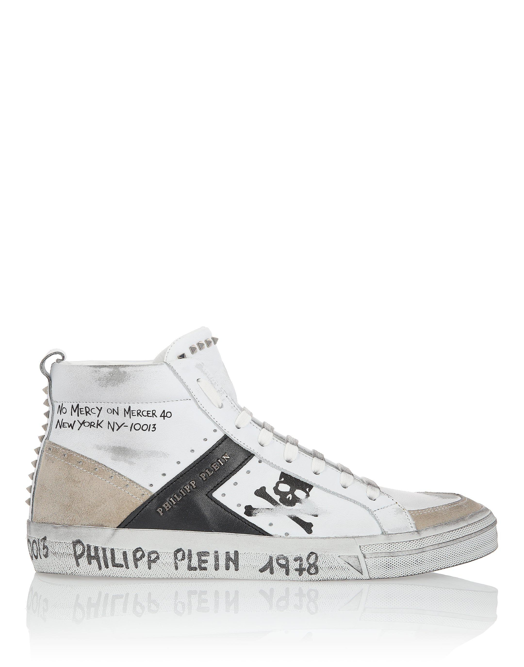 Philipp Mm Men Plein White For Lyst Top Mid In Sneakers dR4vq