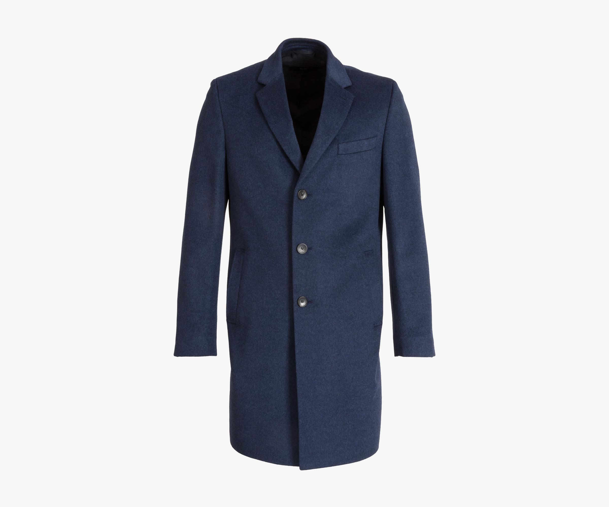 2e36f137f1a5 BOSS  nye  Luxury Cashmere   Wool Overcoat Winter Blue in Blue for ...