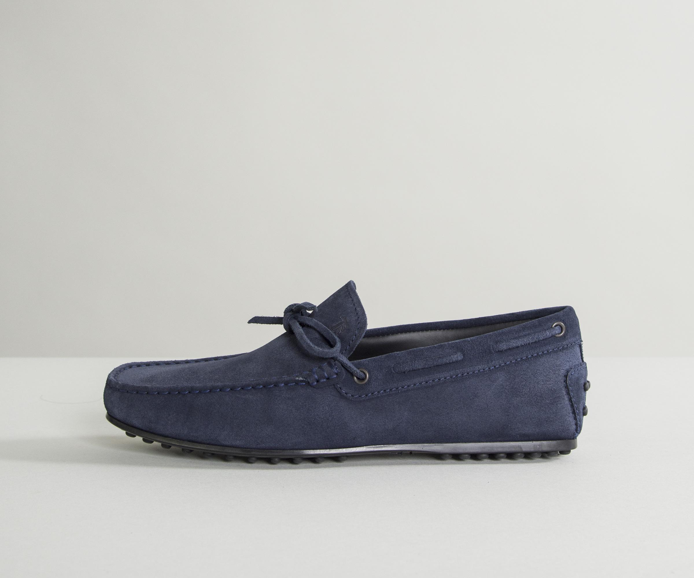 4a56c2b01e37f Tod's City Gommino Suede Driving Shoes Navy in Blue for Men - Lyst