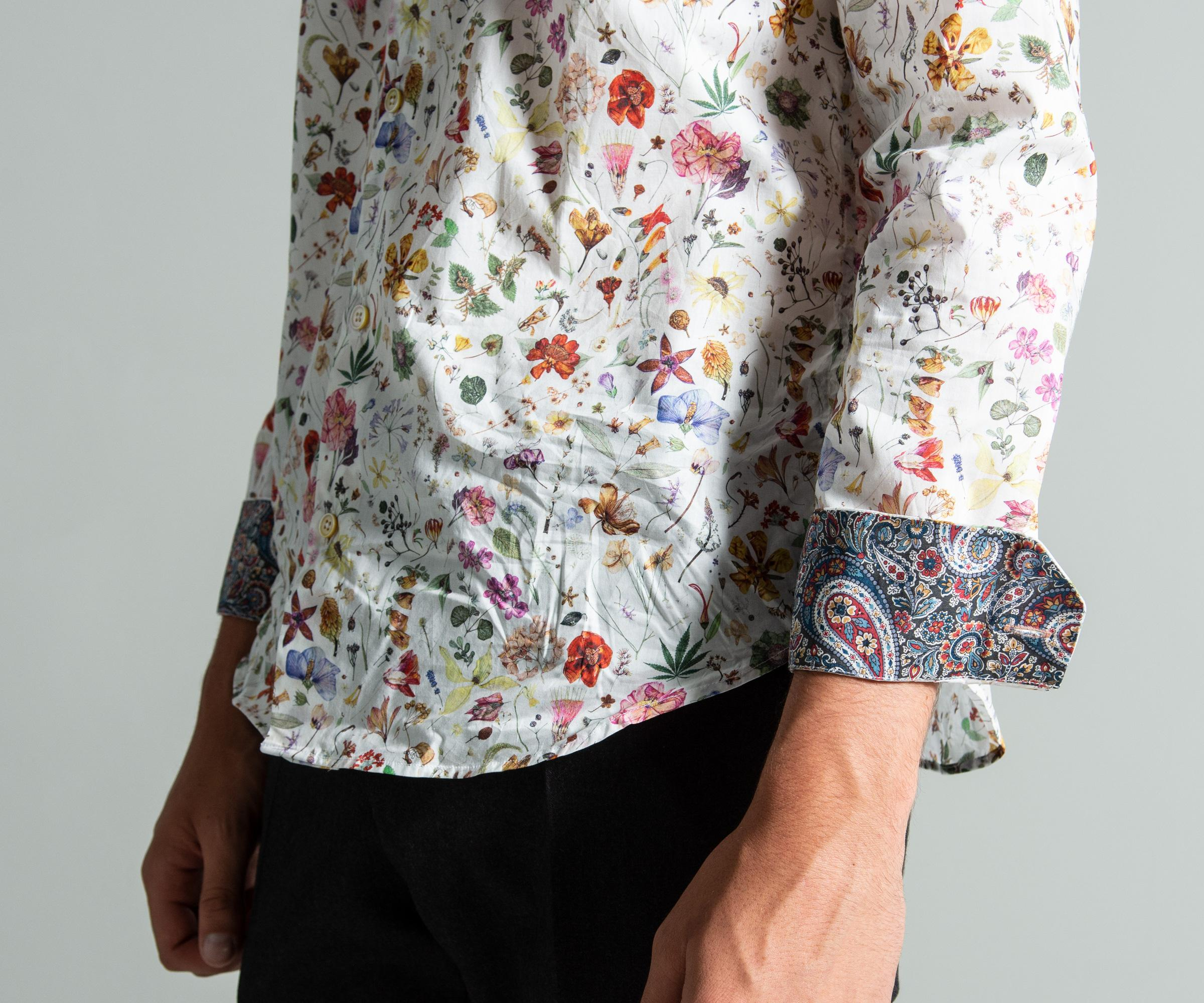 68a2bc9d8dc Lyst - Paul Smith Slim Fit Floral Liberty Print Shirt White in White ...