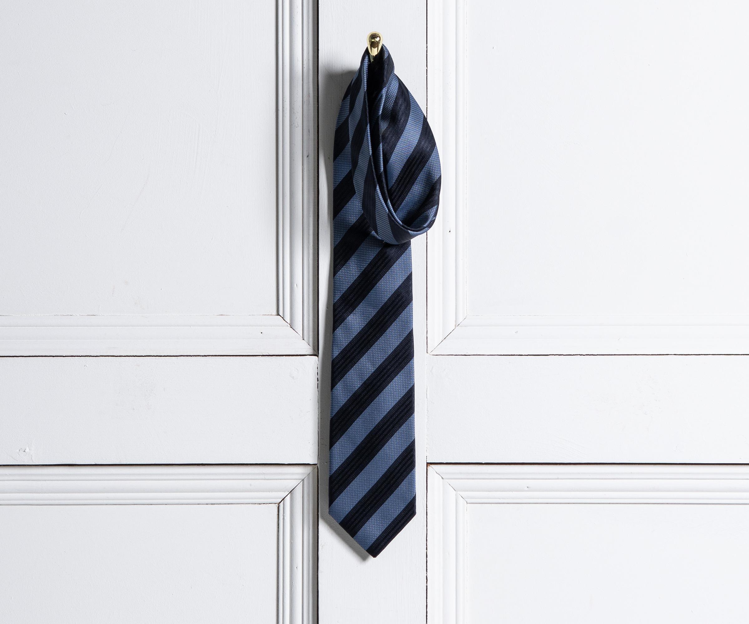 4b554c281078e Lyst - BOSS Textured Club Stripe Silk Tie Blue in Blue for Men