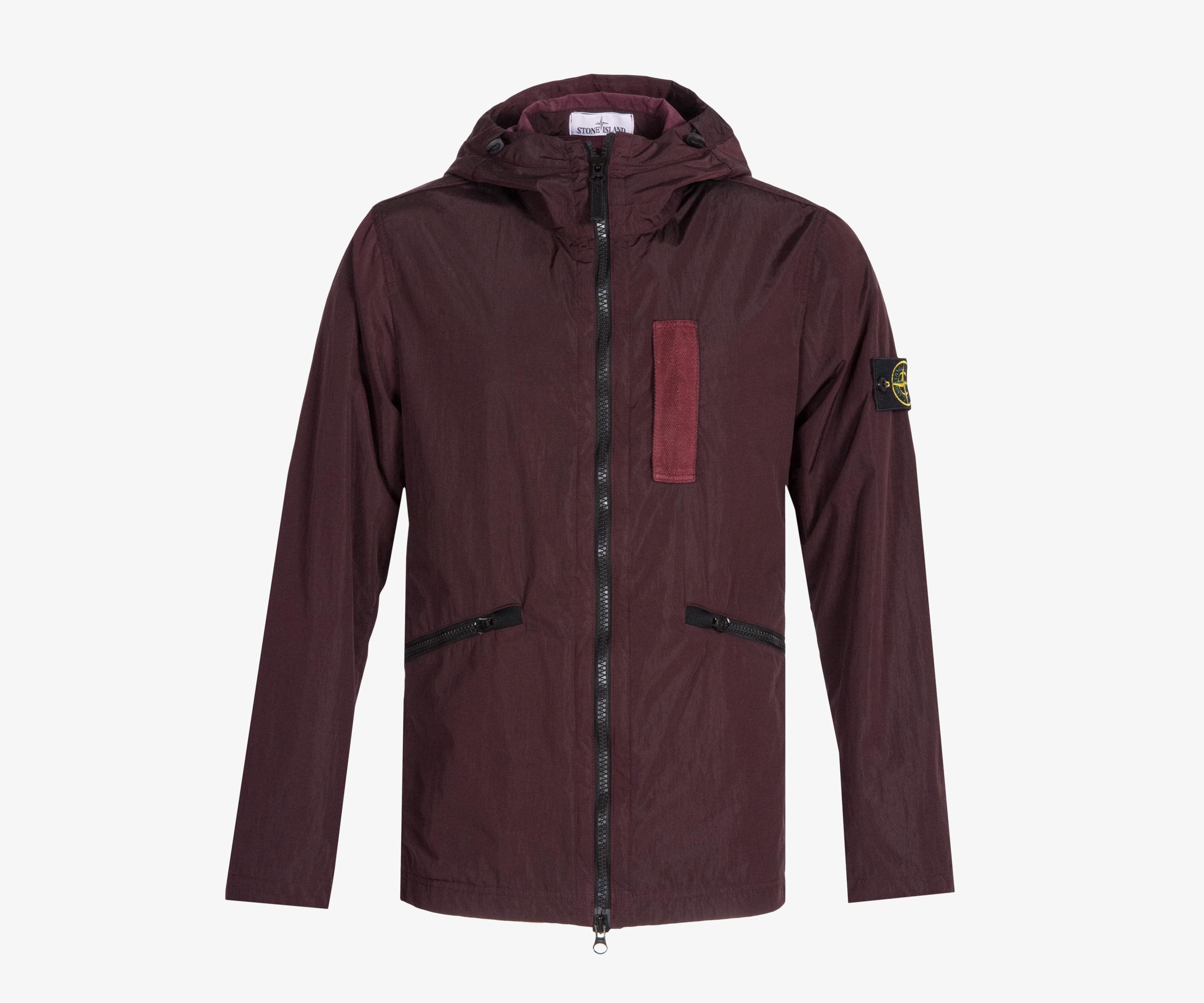 daf3db774 Stone Island Nylon Metal Flock Hooded Jacket Burgundy in Purple for ...