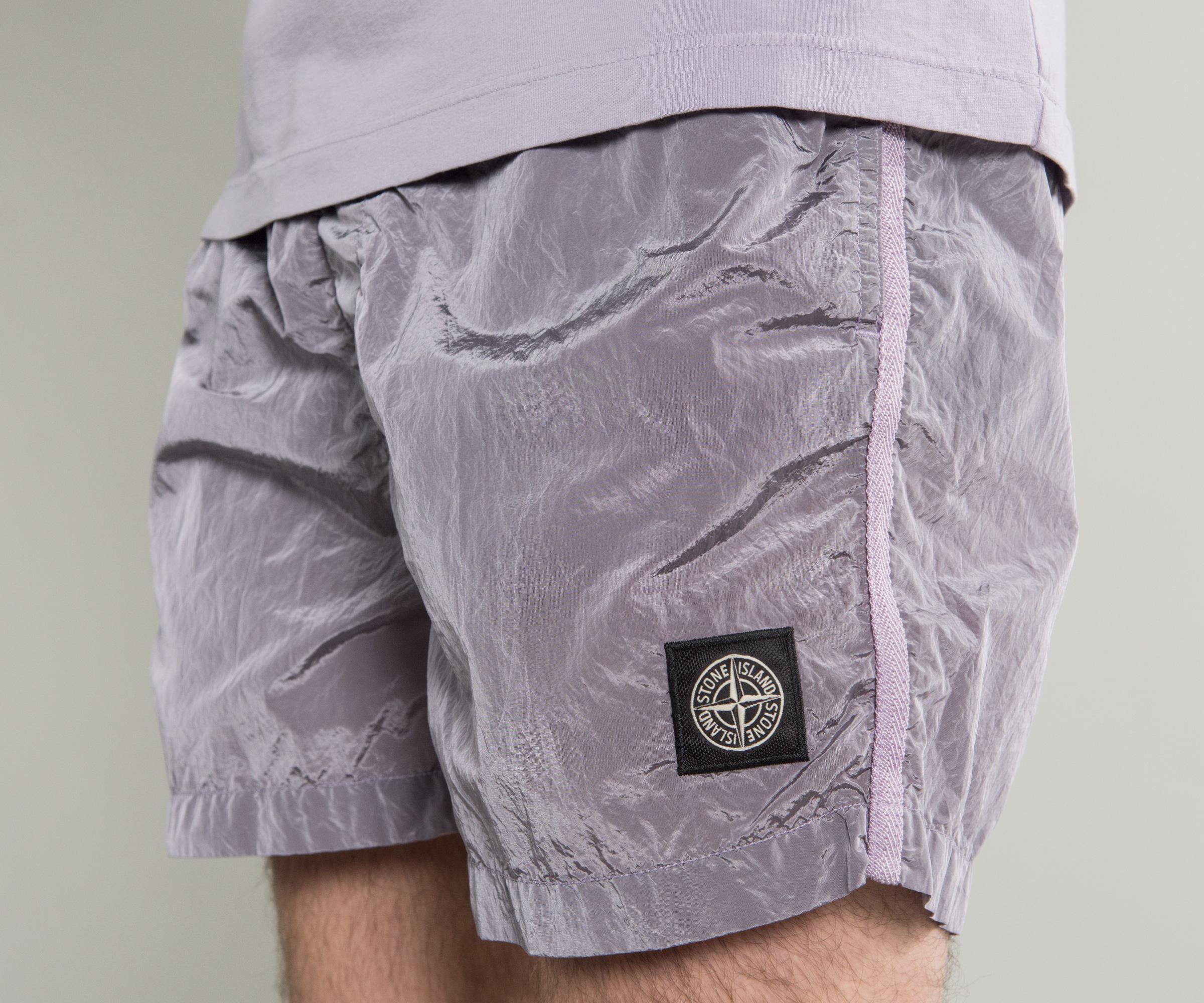 9800dcb167d7 Stone Island Short Length Nylon Swim Shorts Lavender for Men - Lyst