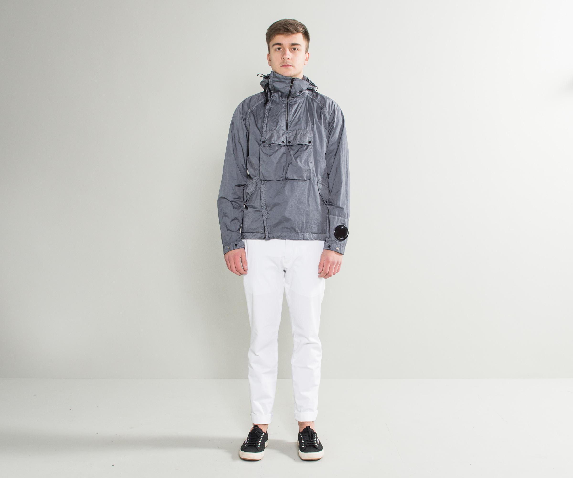 cd39c53ef C P Company Gray 'nyfoil' Goggle Double Zip Utility Jacket Grey for men