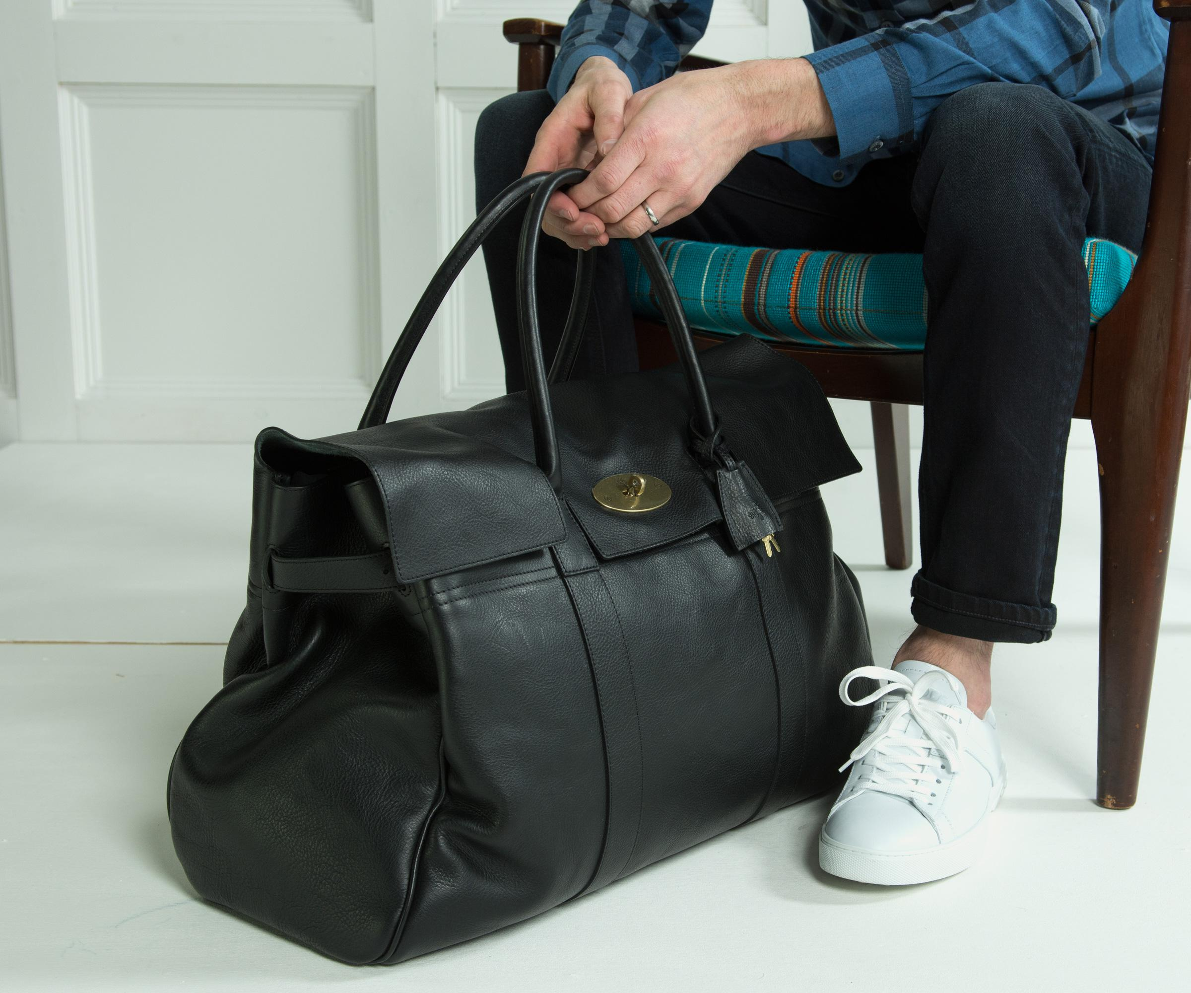 Lyst - Mulberry Piccadilly Leather Weekend Bag Black in Black for Men de0d9dce48673
