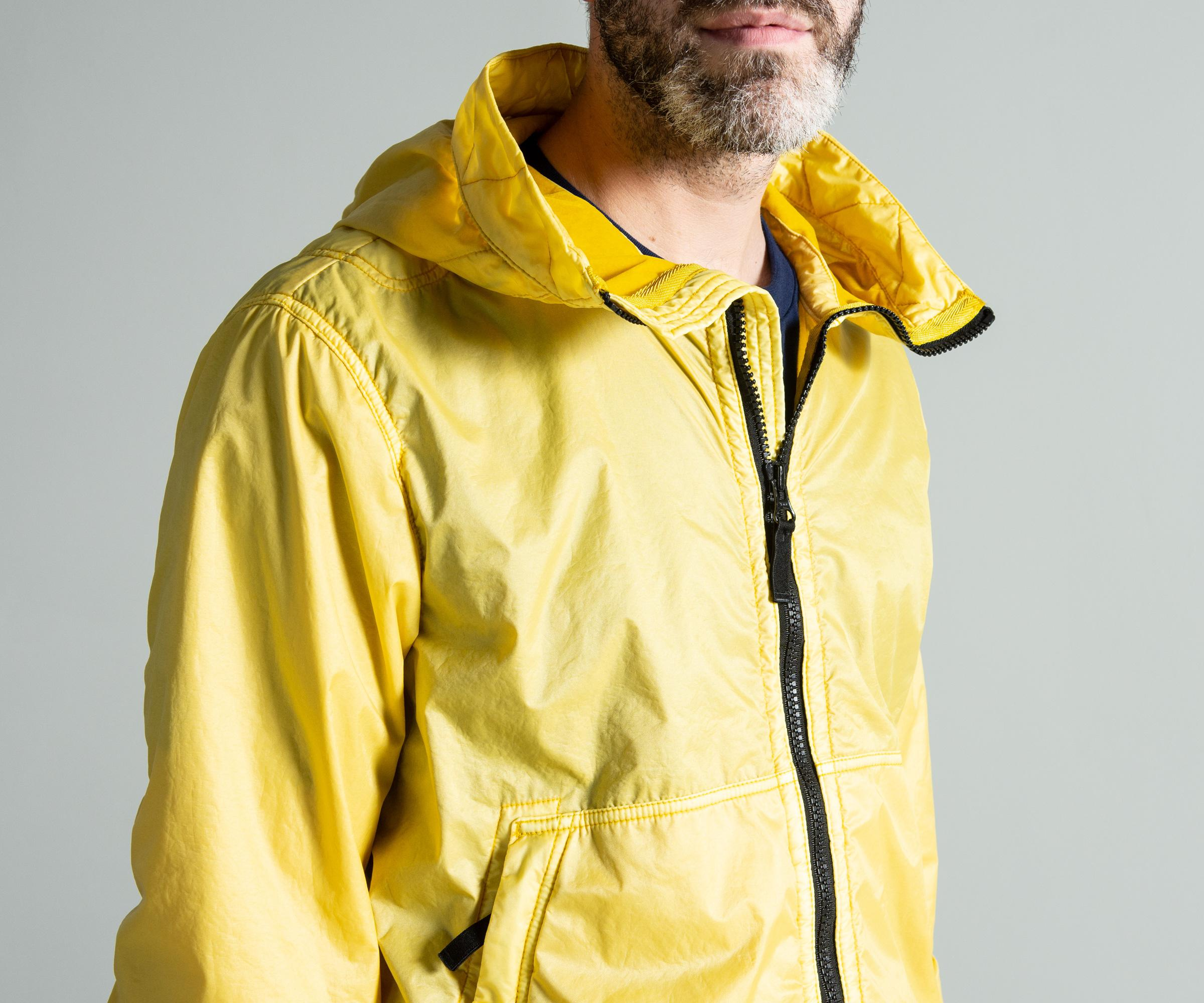 Stone Island Synthetic Lamy Flock Jacket Yellow for Men