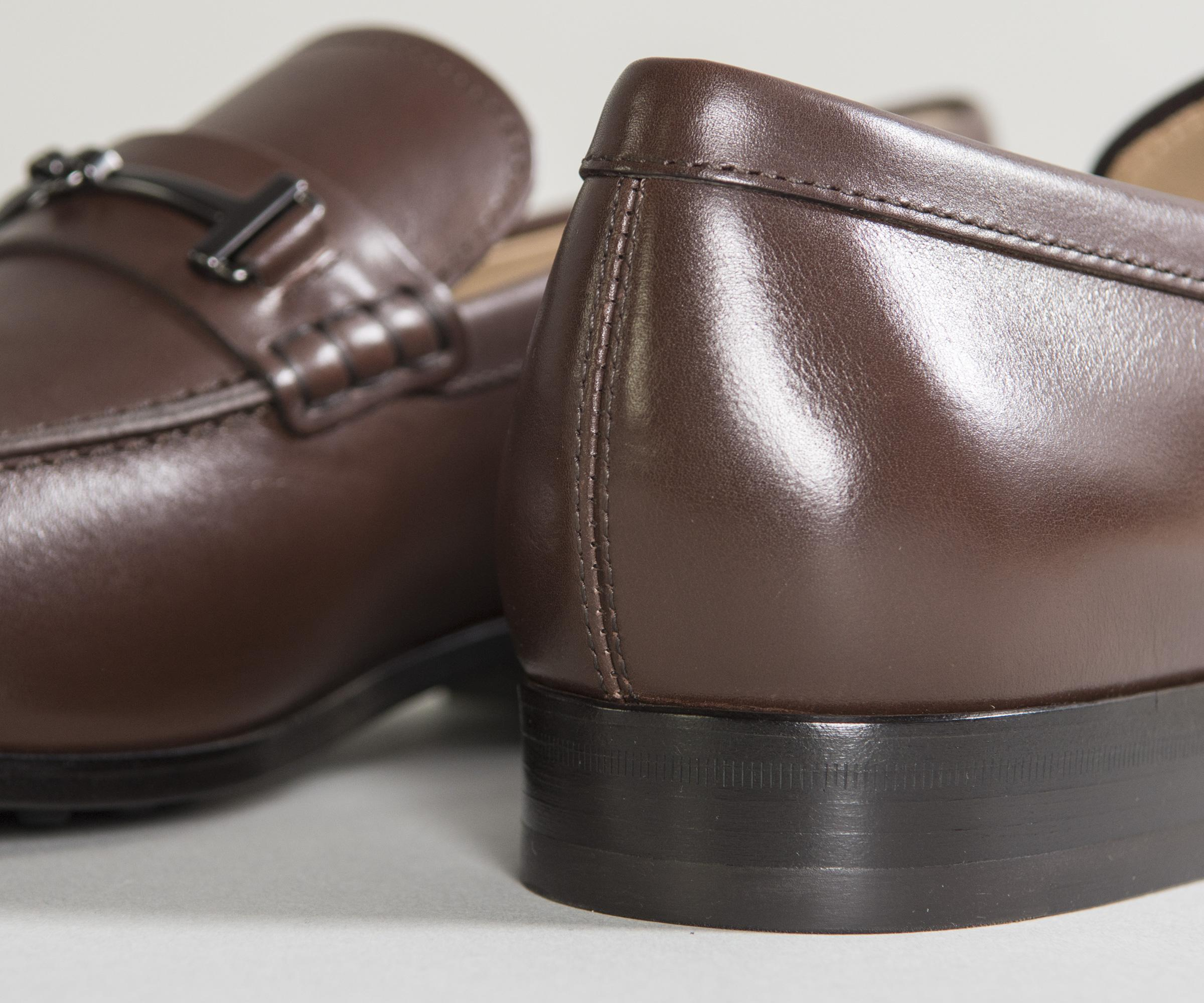 Sale Pay With Paypal Explore Cheap Online Classic Leather Loafers With T-Bar Detail Brown Tod's Visit Sale Online uw38swXZIy