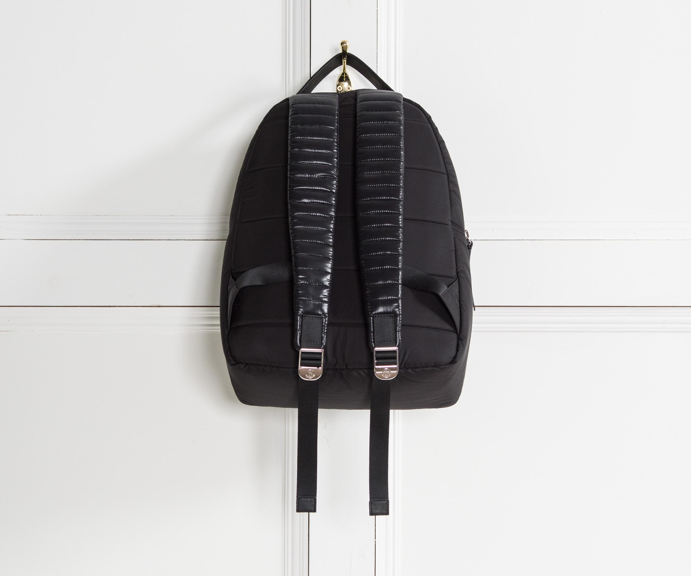 Moncler Leather 'new George' Quilted Backpack Black for Men
