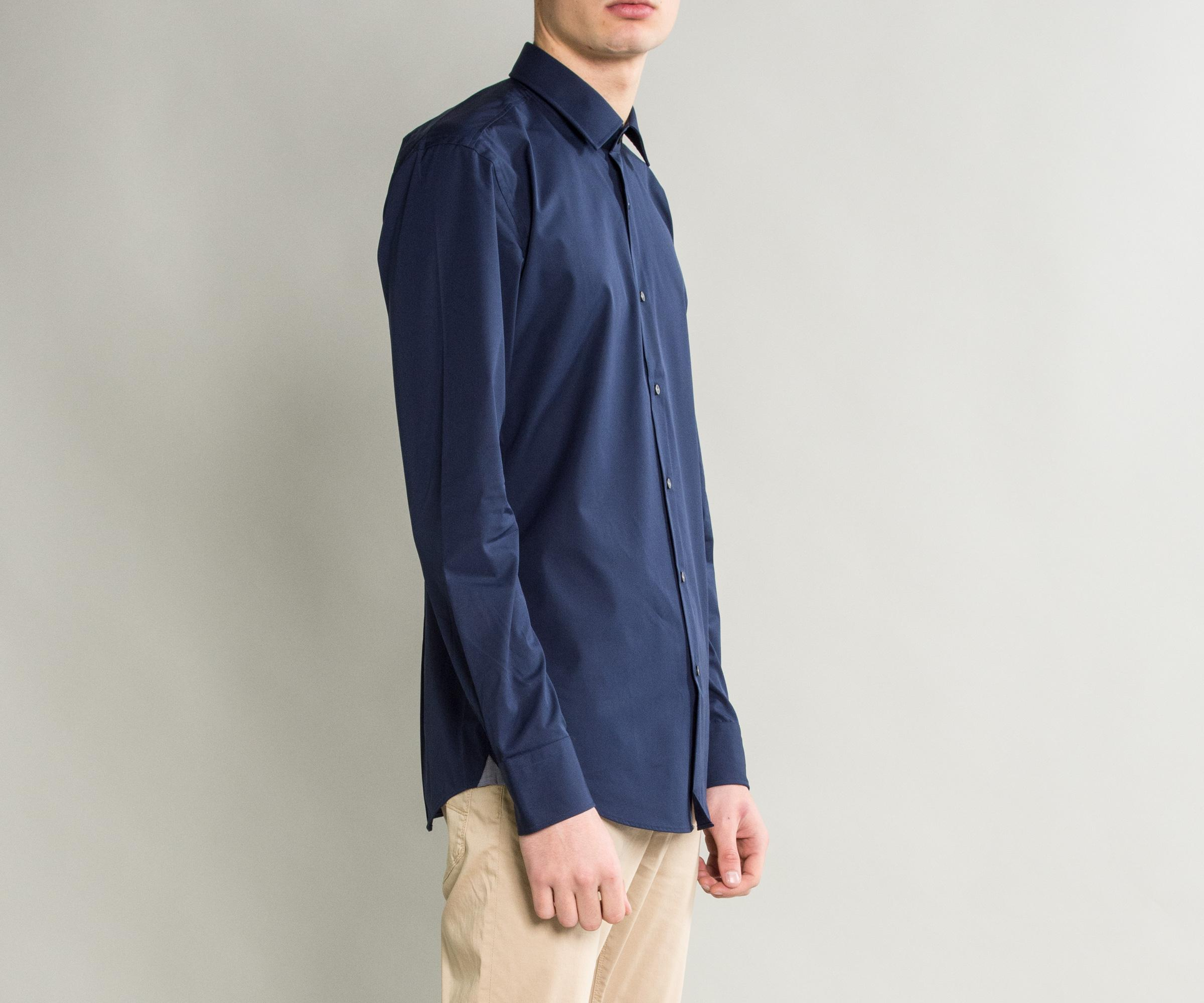 b86da6388 BOSS - Blue 'jerris' Easy Iron Formal Shirt Navy for Men - Lyst. View  fullscreen