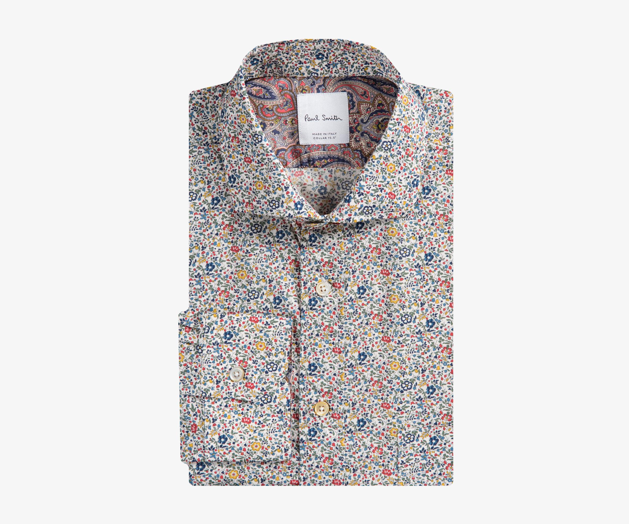f175bfcb441 ... Floral  Liberty Print Shirt With Paisley Cuff Lining for. View  fullscreen