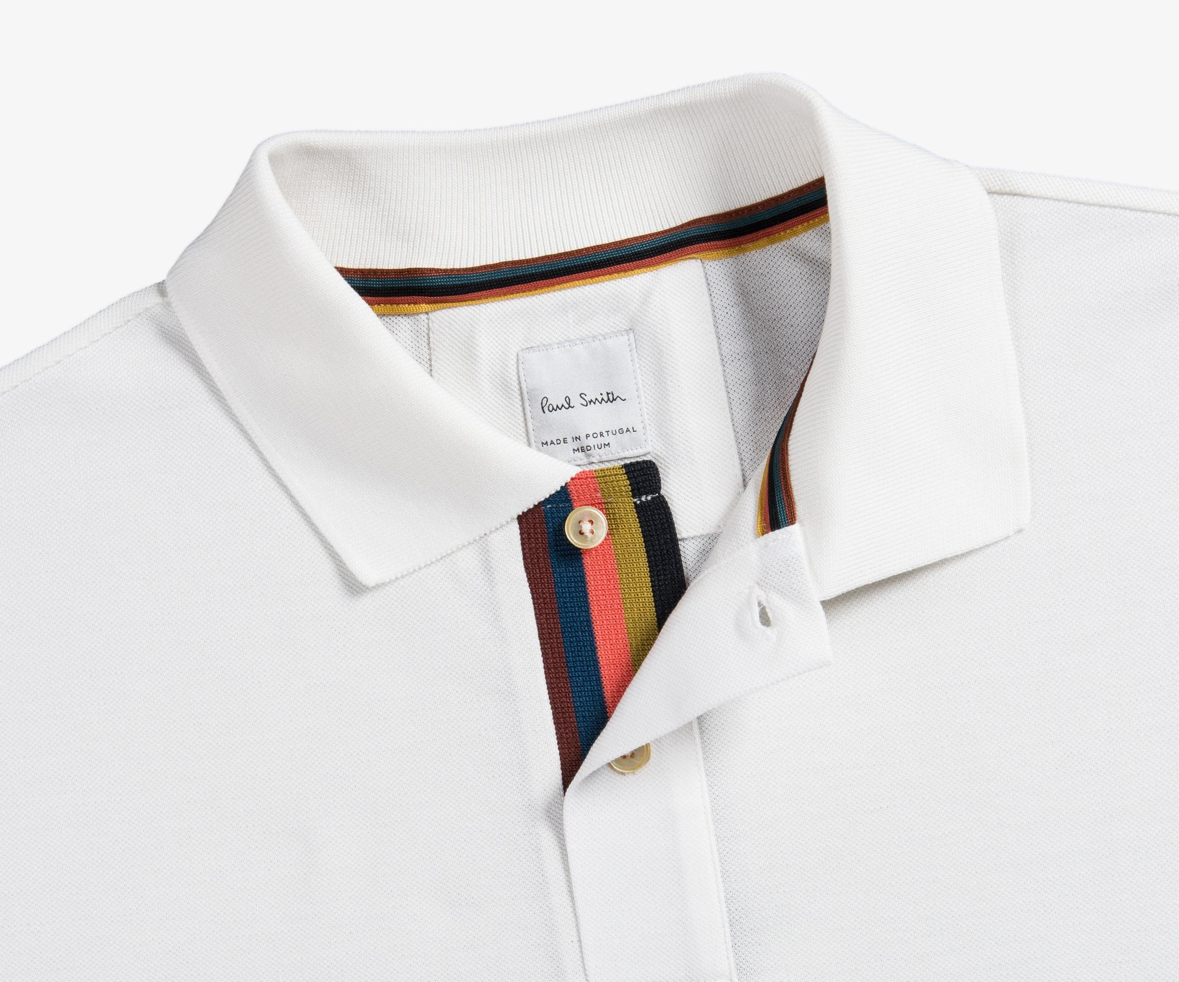 f35428bd Paul Smith Classic 2-button Slim Fit Polo With Striped Placket Off ...
