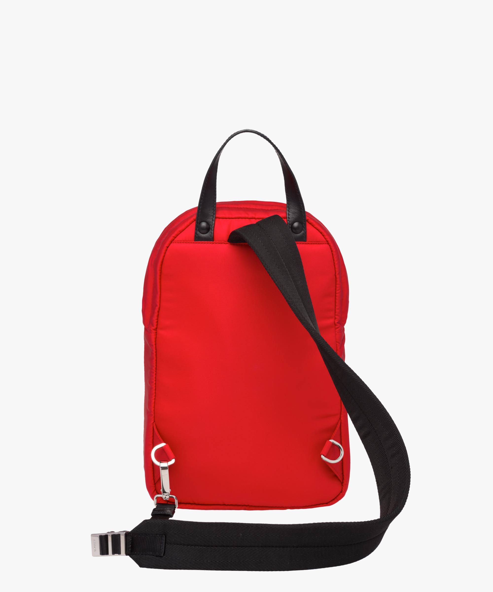 ... closeout lyst prada nylon one shoulder backpack in red for men a9e3c  18ace 15032ddb4137a