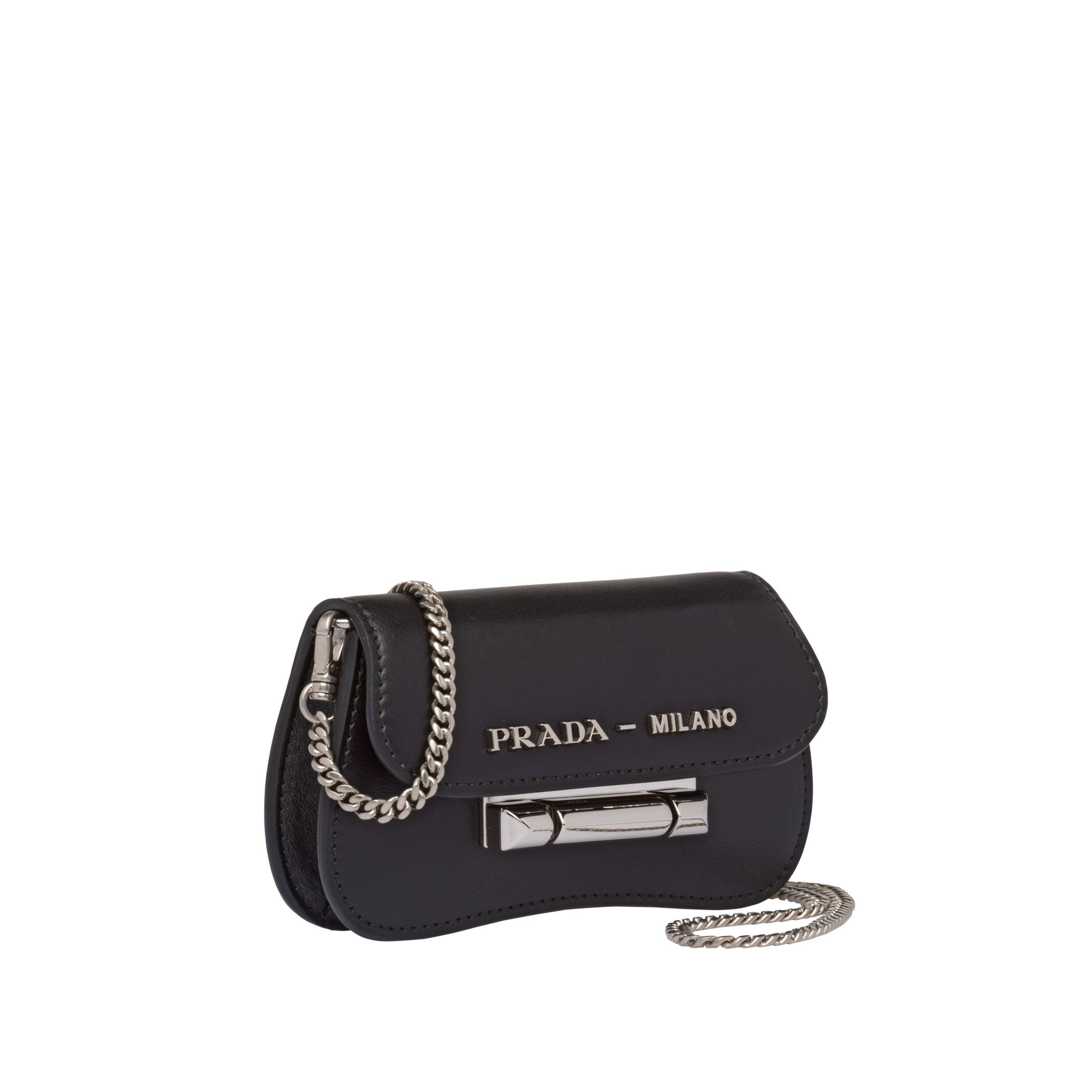 bd35816dce Prada Black Sybille Leather Mini-bag