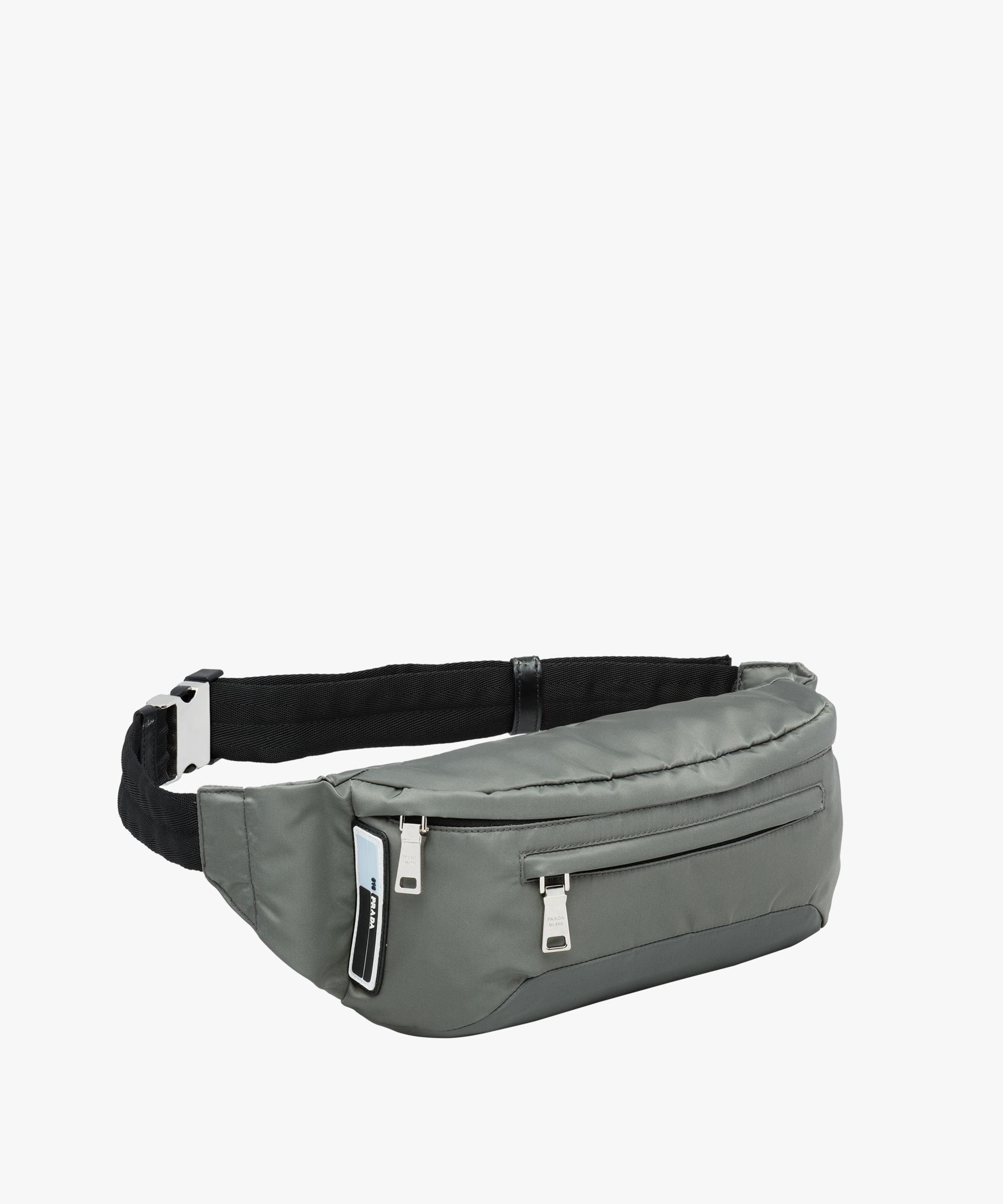9676b98d433fc2 ... uk lyst prada technical fabric belt bag in gray for men efa30 8e197